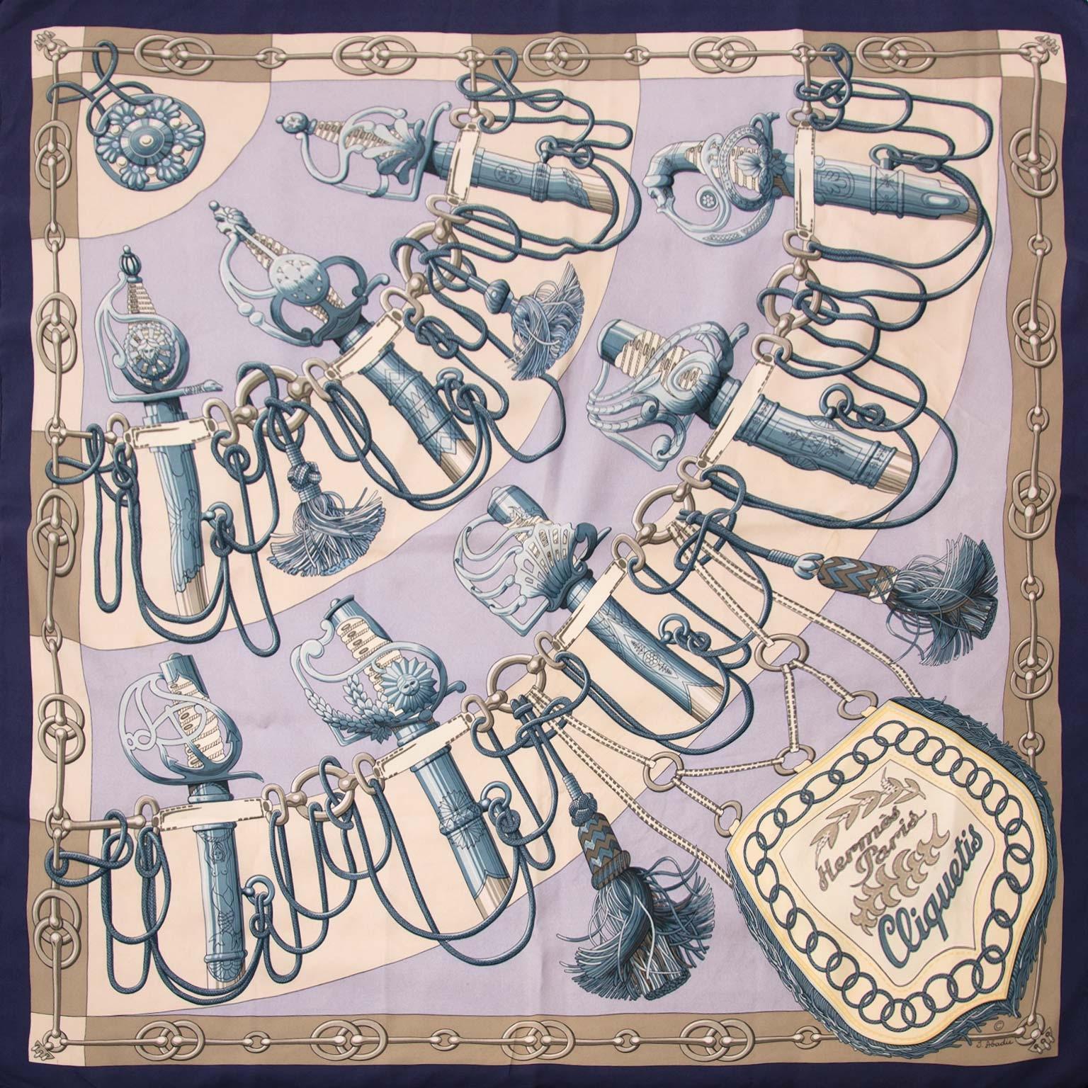 Koop authentieke Hermès sjaals nu online bij Labellov vintage webshop