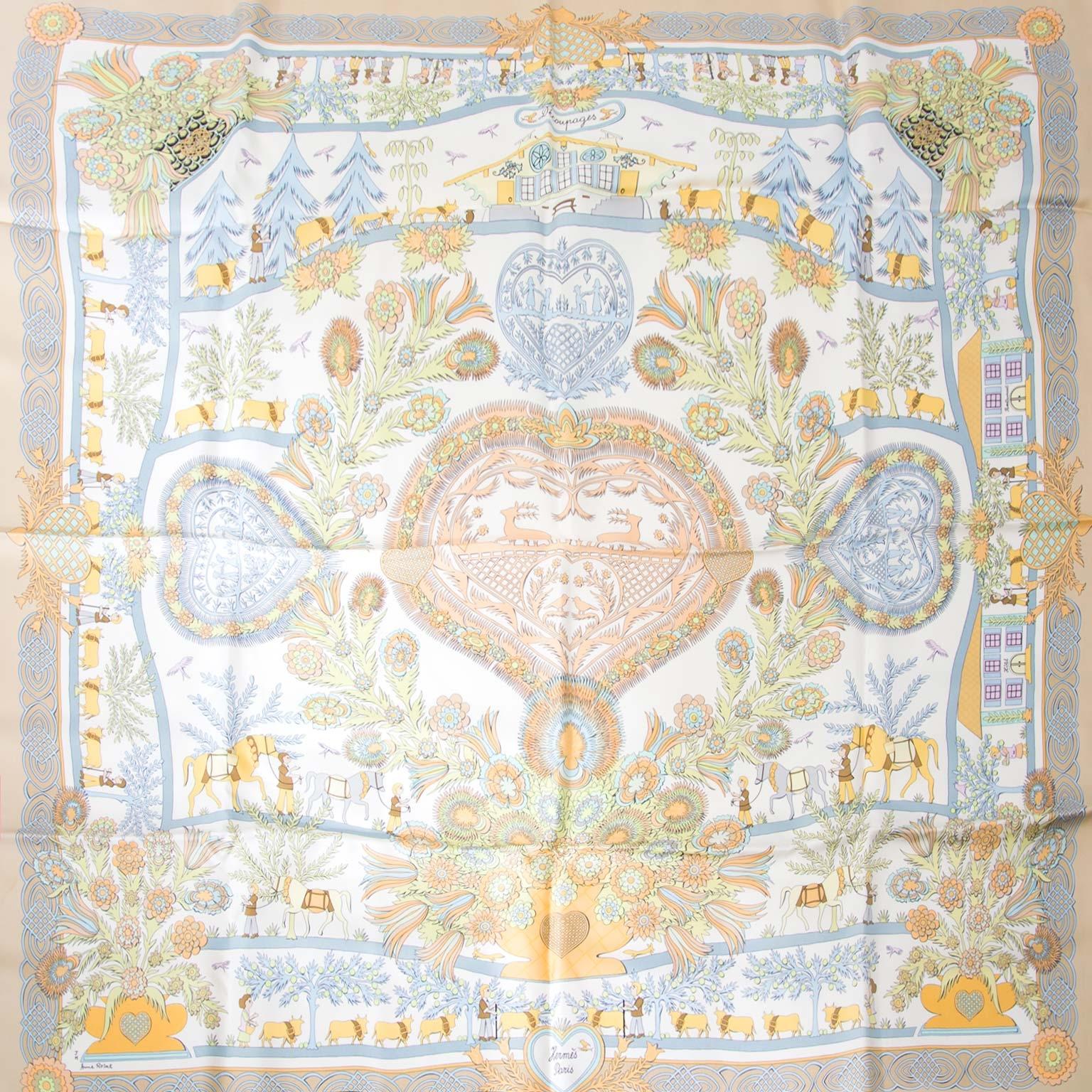 acheter en ligne chez labellov.com hermes carre decoupages en soie pour le meilleur prix