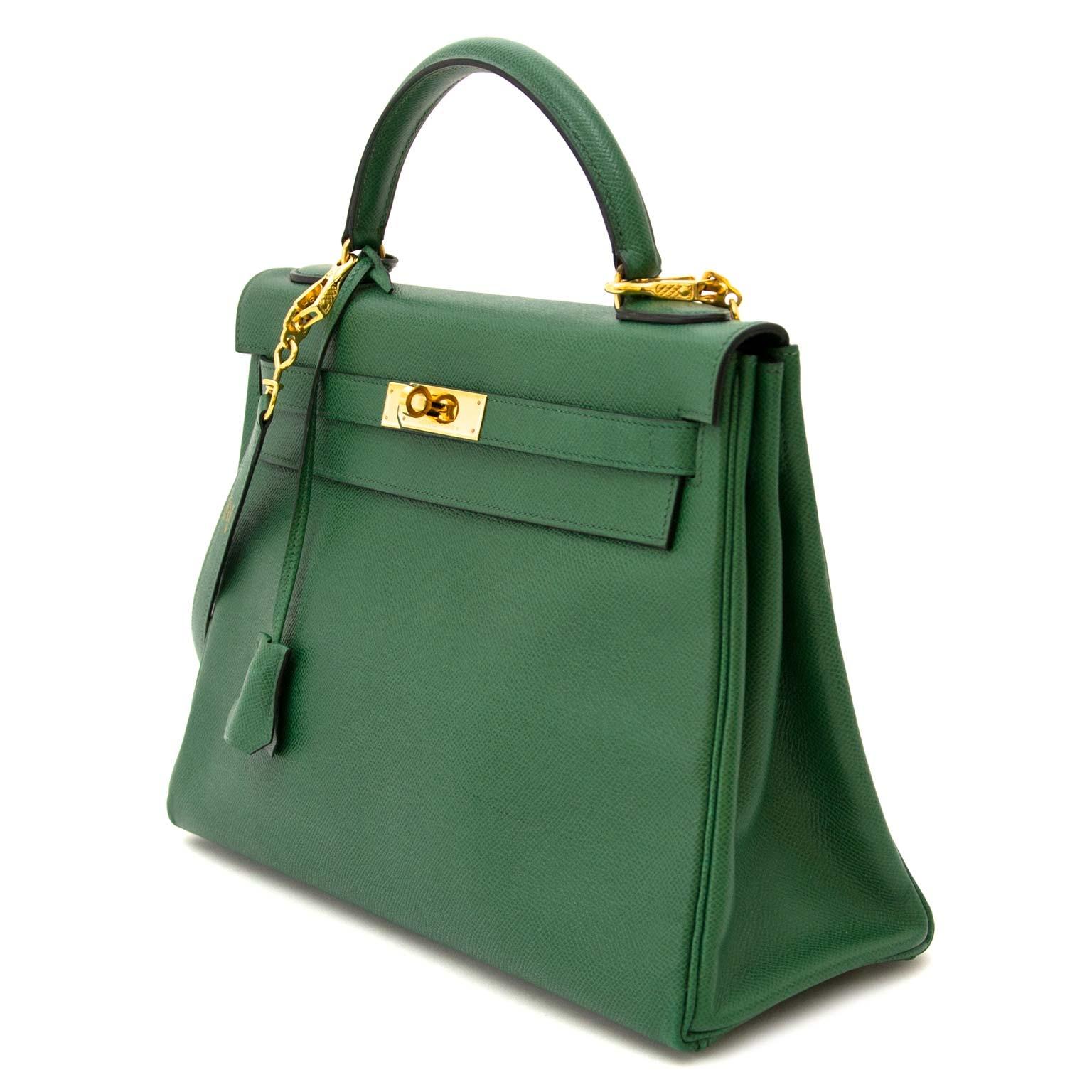 acheter en ligne pour le Hermes Kelly 32 Vert Bengal Courchevel Leather