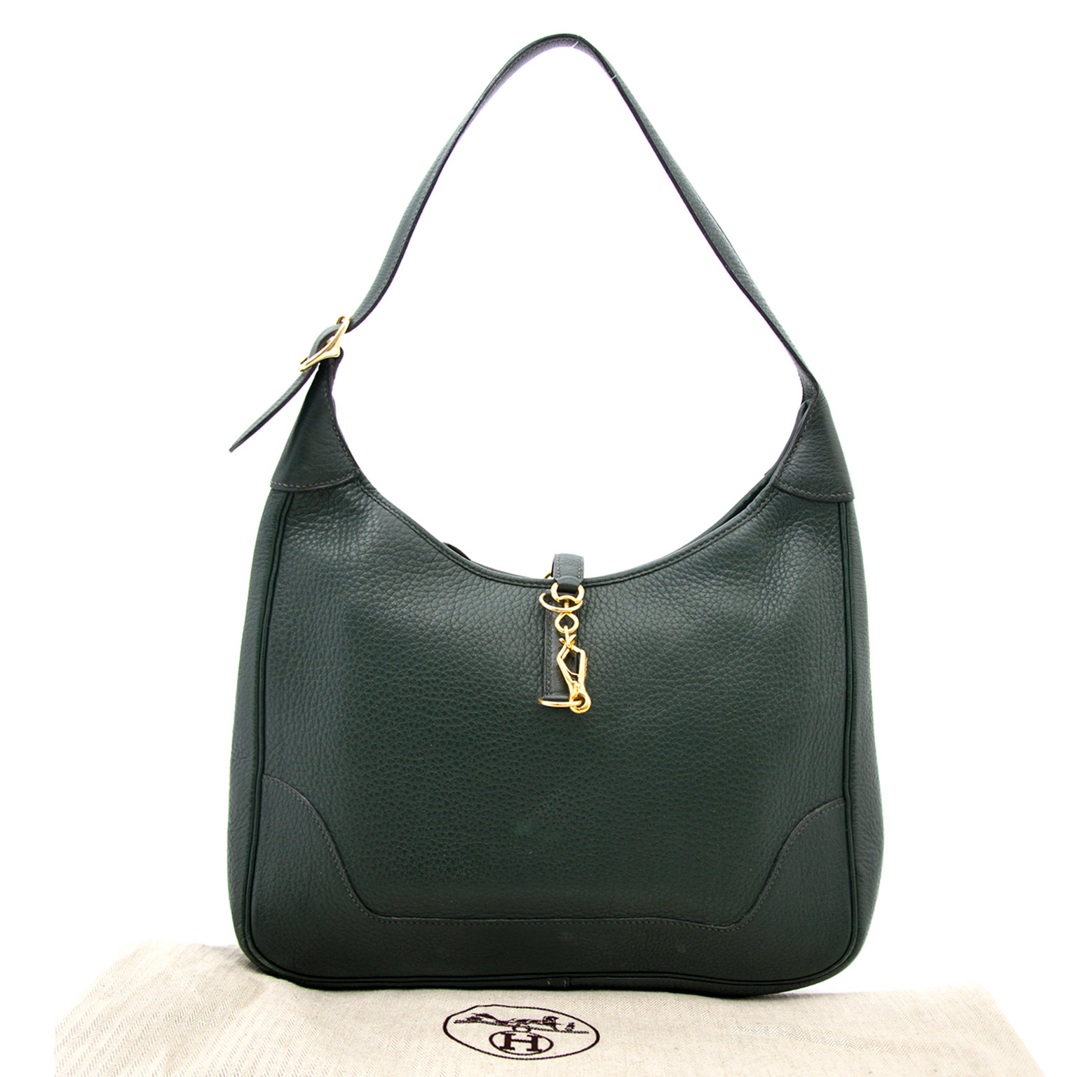Hermès Trim dark green togo ghw at labellov.com for the best price