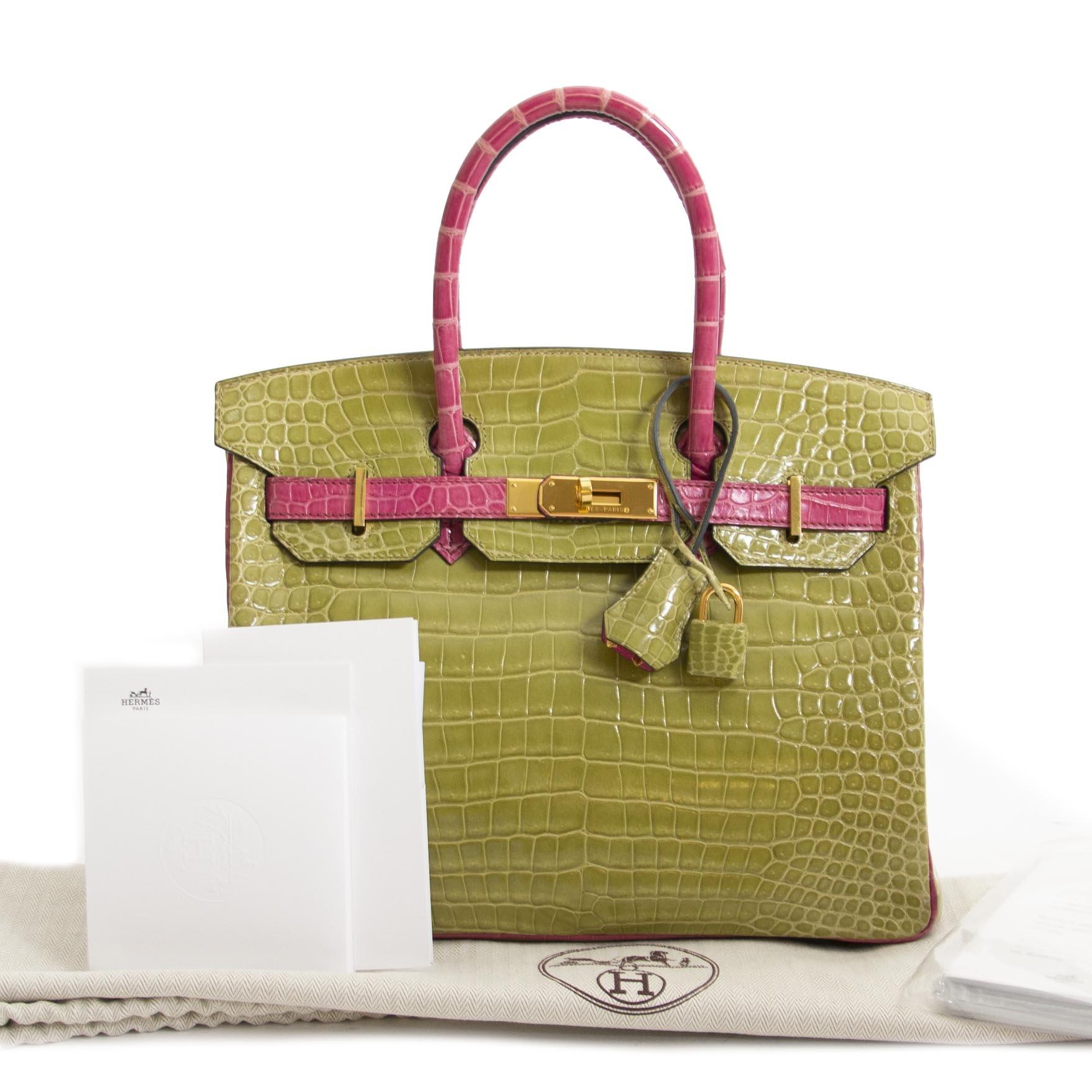 4b19ff7001b4 ... Are you looking for a 100% authentic Hermès Birkin 30 Crocodile Porosus  GHW Vert Anis