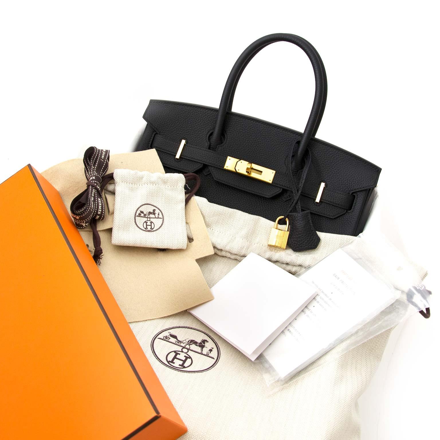 shop safe and secure online at labellov.com Hermès Birkin 30 Black Togo GHW