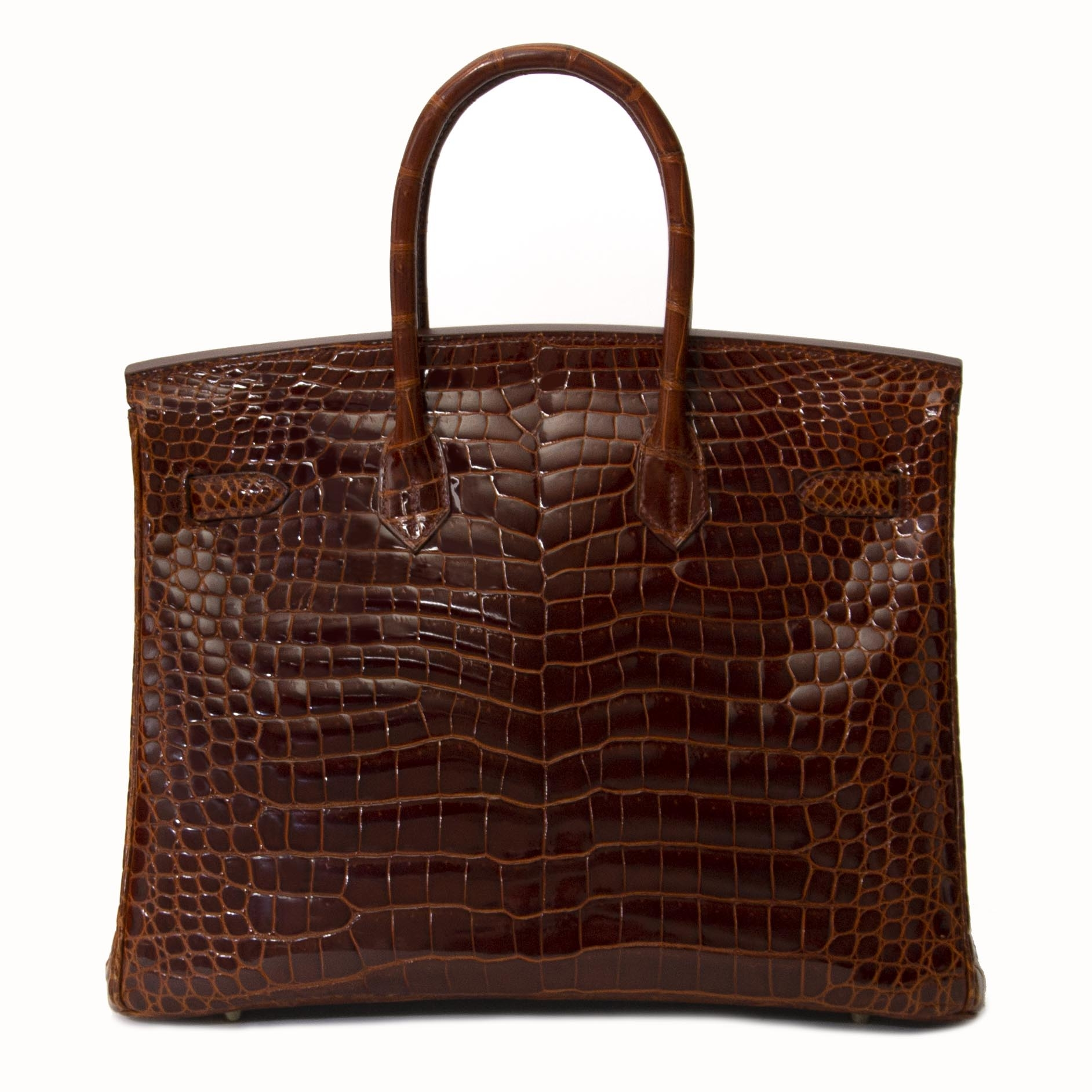 edae730894e ... No waiting list shipping worldwide best price best value Hermès Birkin  35 Crocodile Porosus Havane GHW