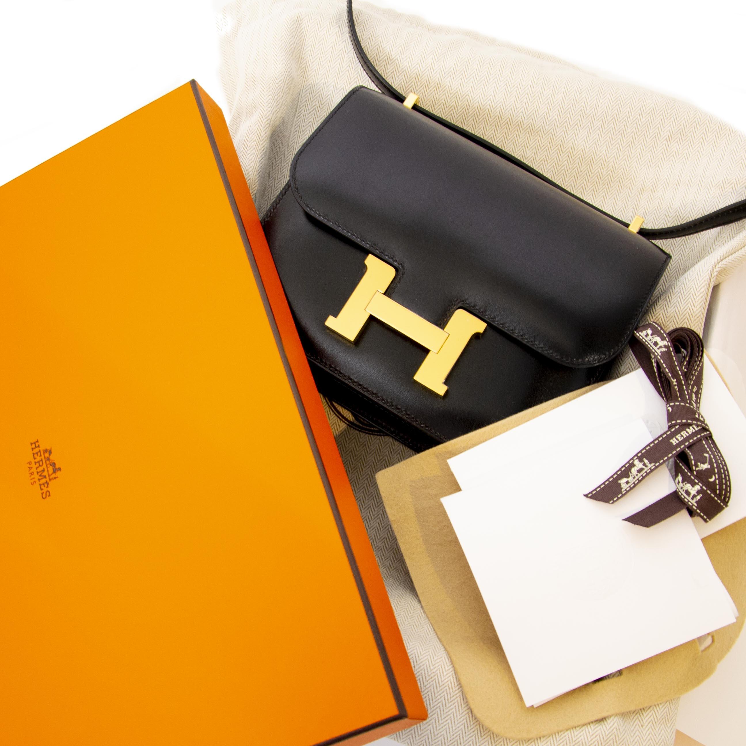 Hermès Constance III Mini Veau Box Black te koop bij Labellov tweedehands online
