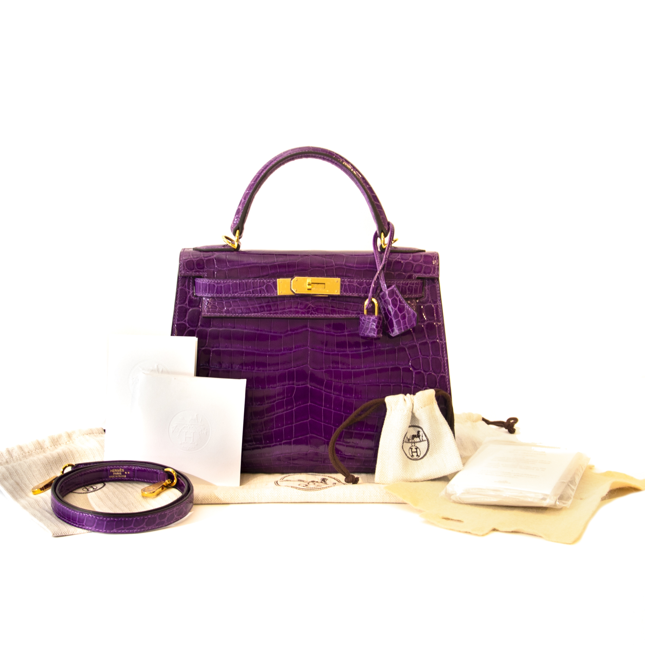 Want to buy Hermès Kelly 28 Violet Niloticus Crocodile GHW for the best price of 2019?
