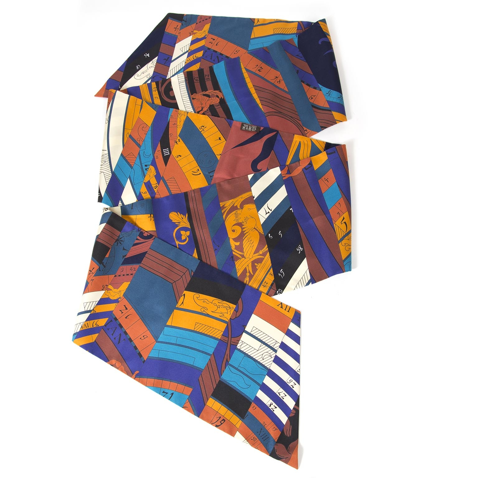 buy Hermès Maxi Twilly Multi Color Silk Scarf at labellov for the best price