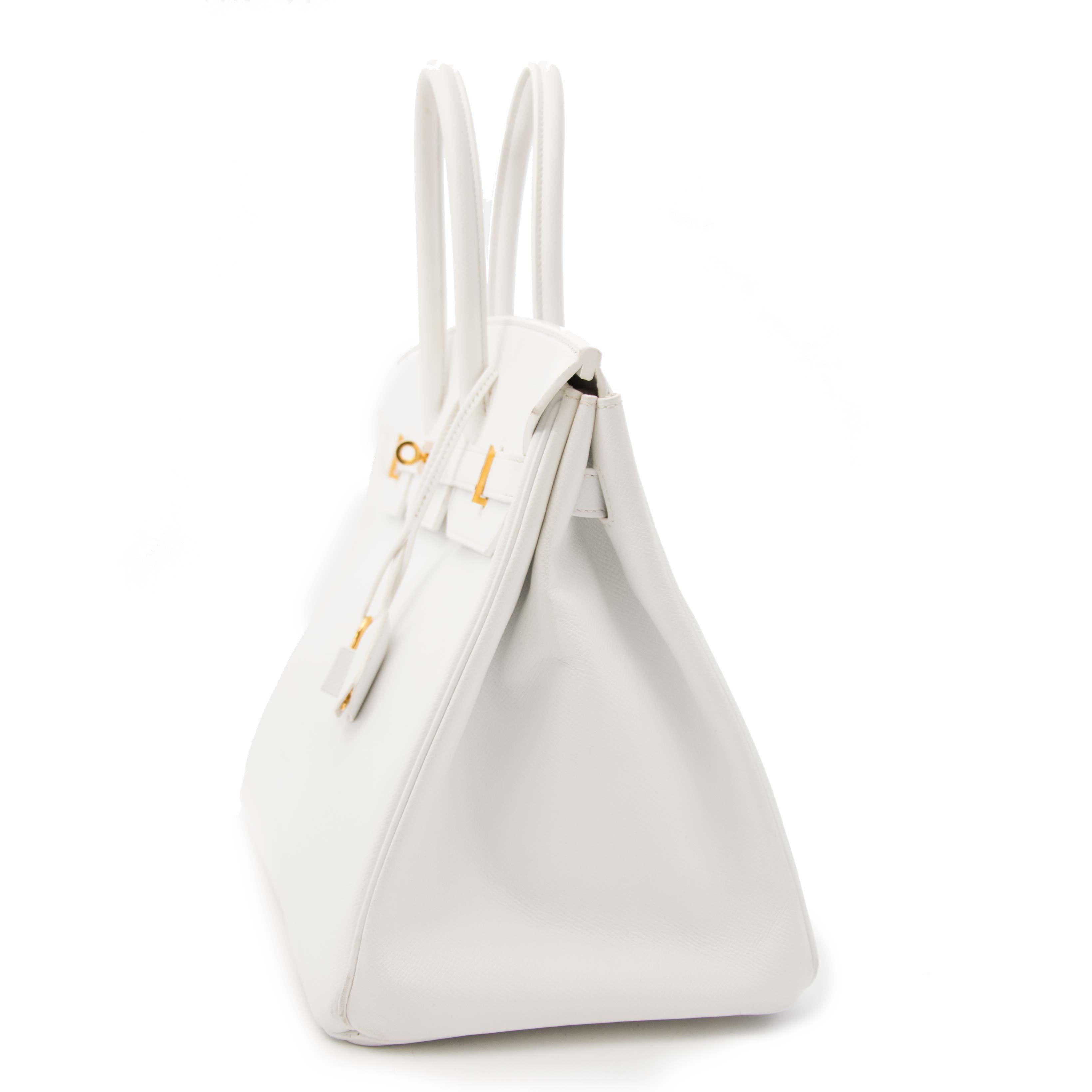 worldwide shipping skip the waitinglist Hard To Find Hermes White Epsom Birkin 35 GHW