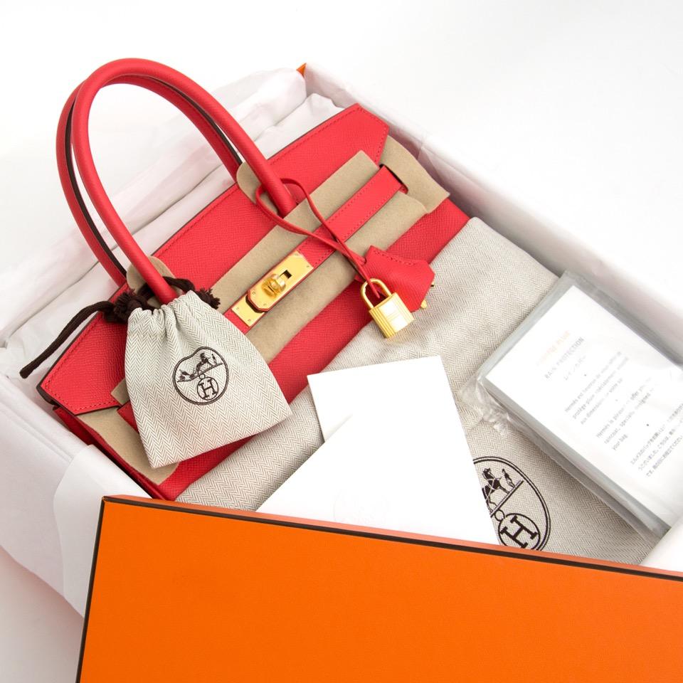 acheter en ligne pour le meilleur prix sac a main Brand New Hermes Birkin 30 Epsom Rose Jaipur GHW