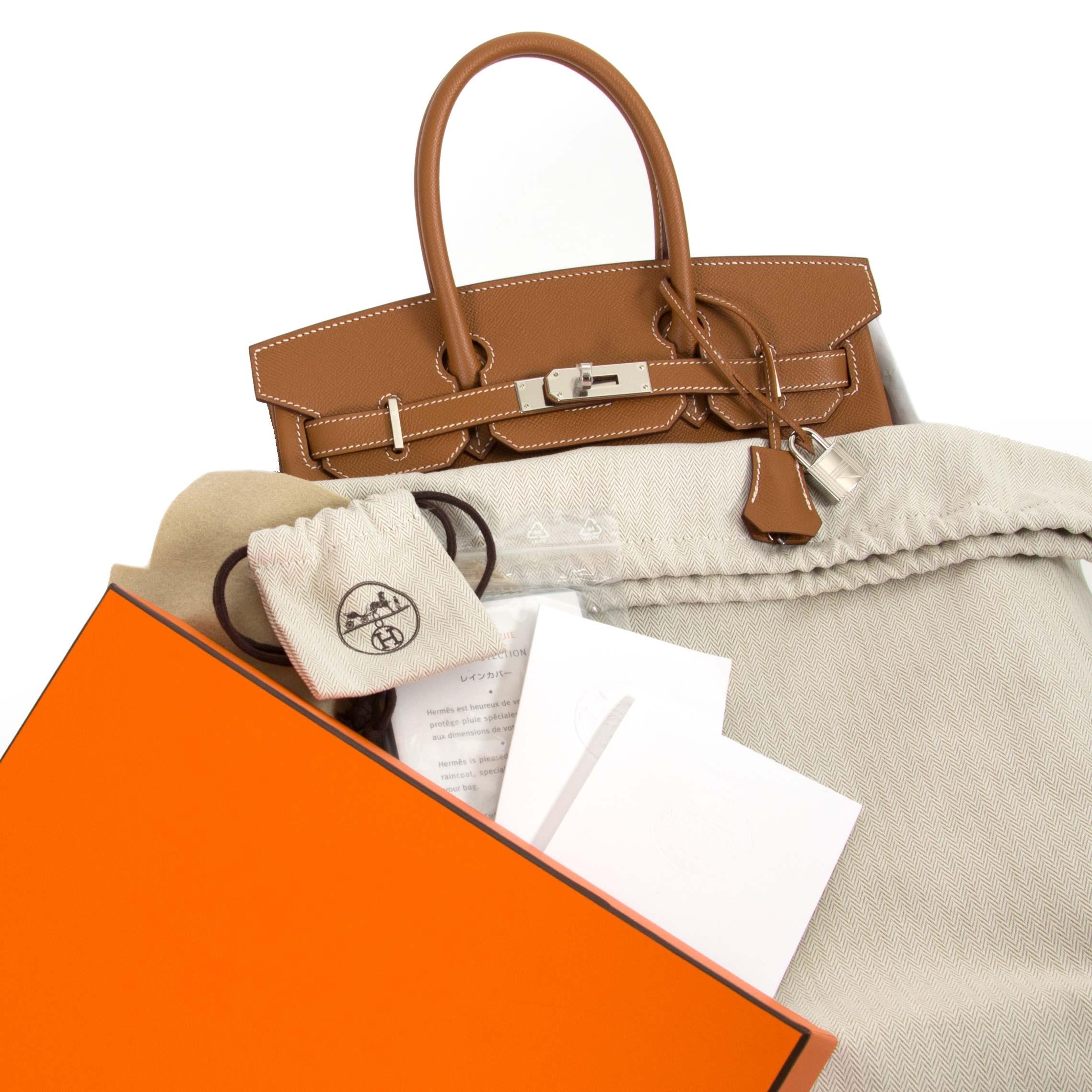 Achetez Hermès Birkin 30 Epsom Gold PHW  pour le meilleur prix chez Labellov