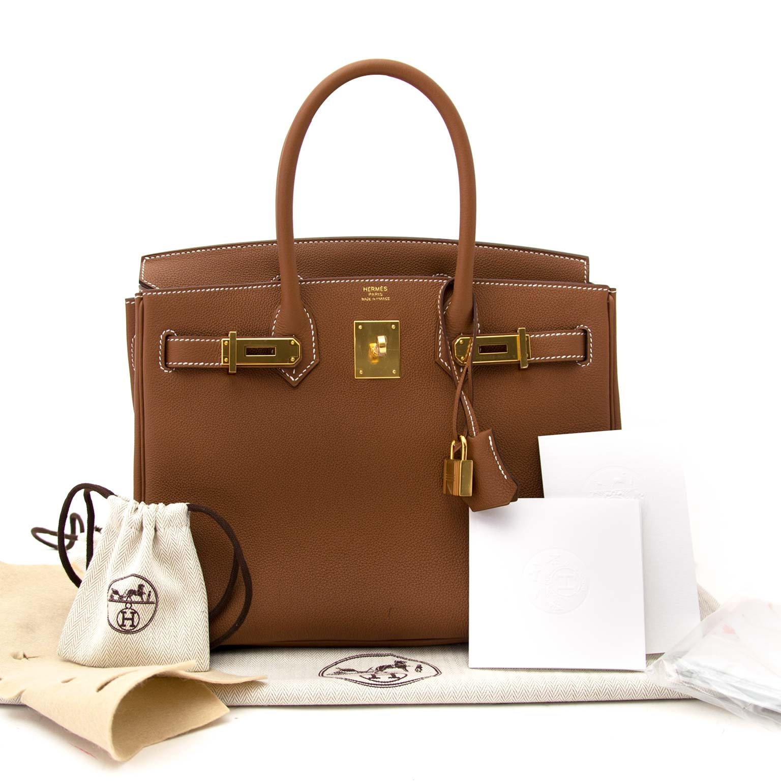 5904005afb8d Labellov hermes birkin 30 togo gold ghw ○ Buy and Sell Authentic Luxury