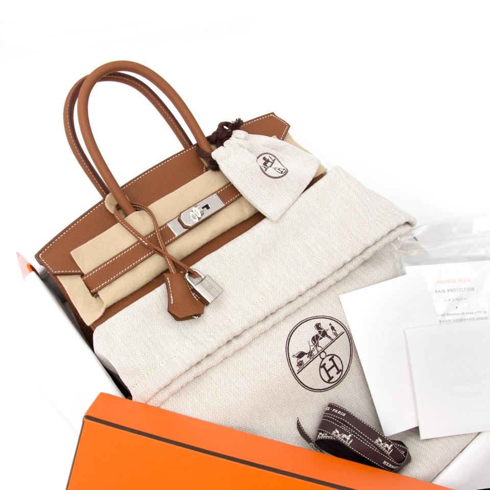 acheter pour le meilleur prix sac a main Brand New Hermes Birkin 30 Gold Togo PHW