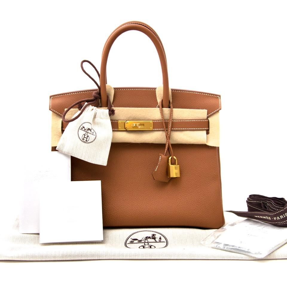 b82857cc2975 ... acheter en ligne neuf sac a main Brand New Hermes Birkin 30 Gold Togo  GHW comme