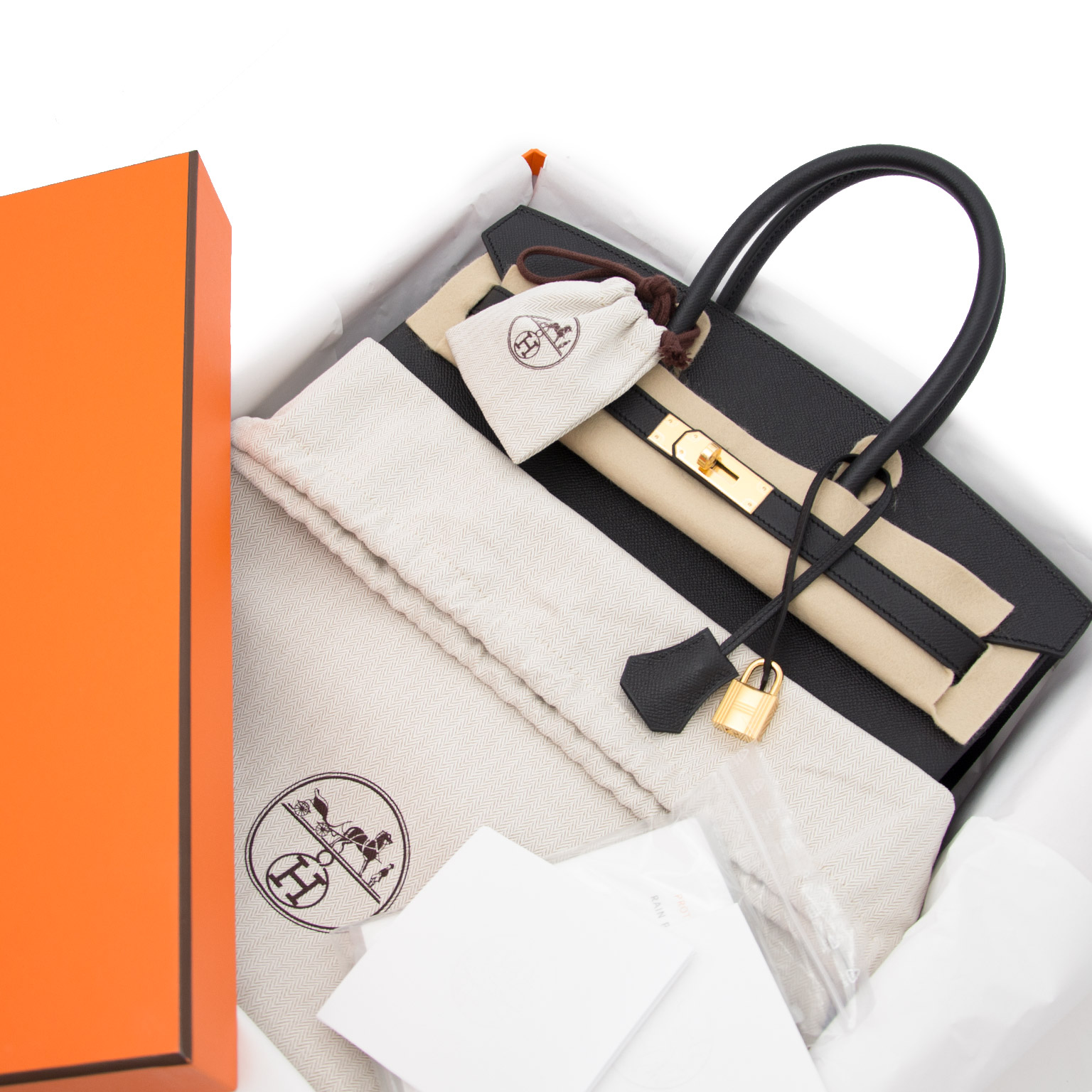 Acheter en ligne chez labellov.com Hermes Birkin 35 Epsom Noir ghw.