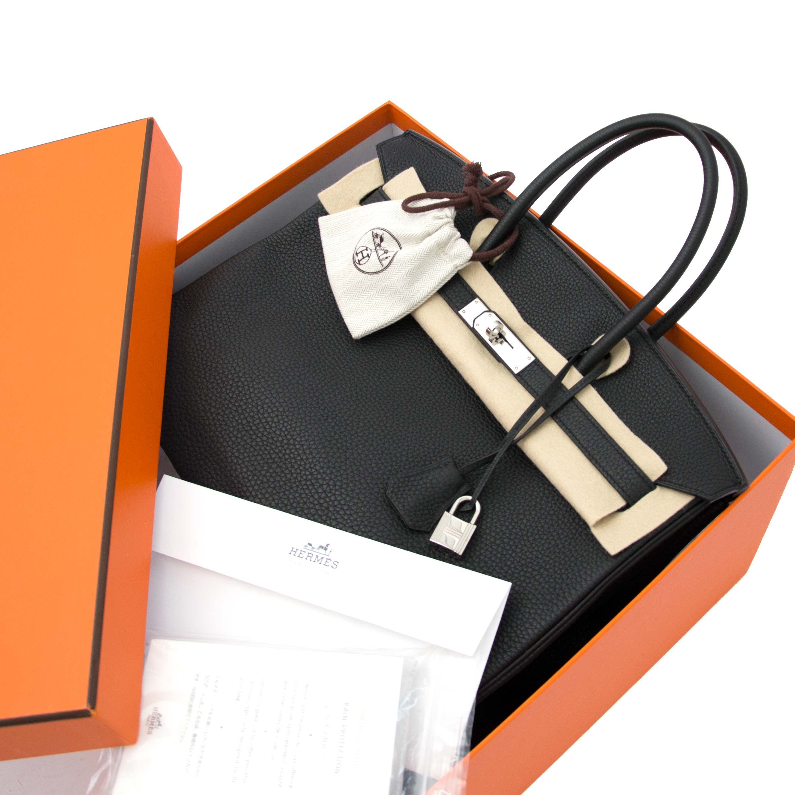 buy safe and secure online at labellov.com skip the waitilist and get your black hermes birkin 35 togo phw right now