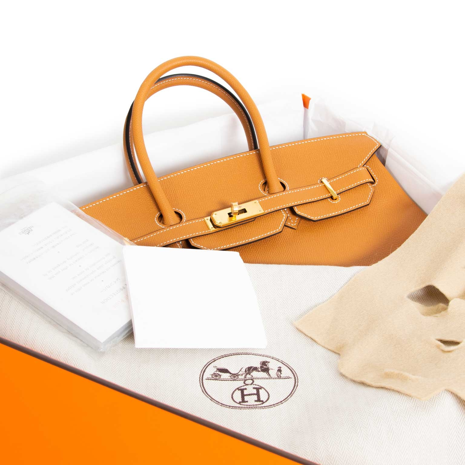 Buy your authentic Hermès Birkin 35 Veau Epsom Toffee GHW only at Labellov