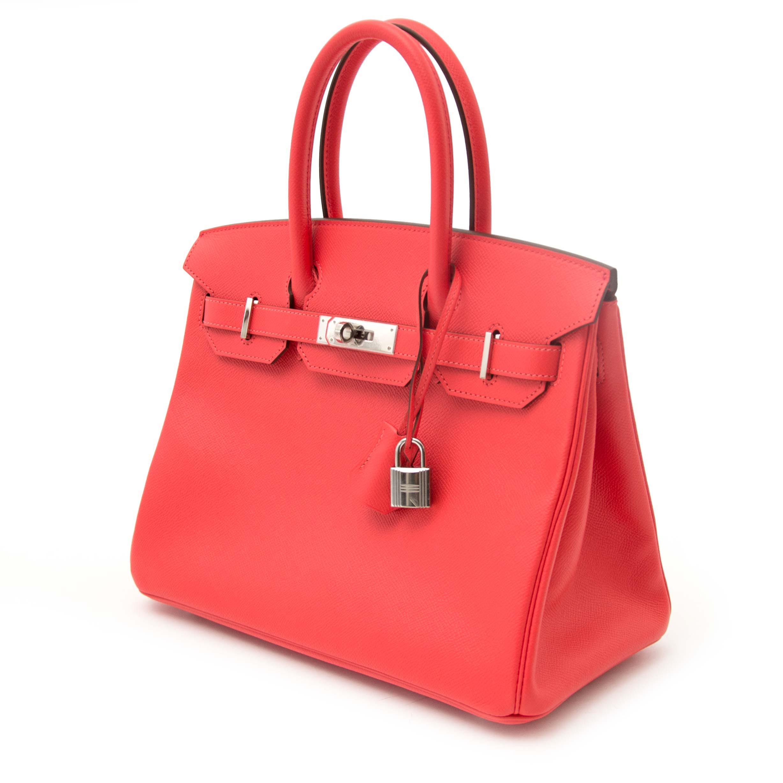 65dd2709e2 ... koop online aan d e beste prijs jou tweedehands Never Worn Hermes Birkin  30 Rose Jaipur Epsom