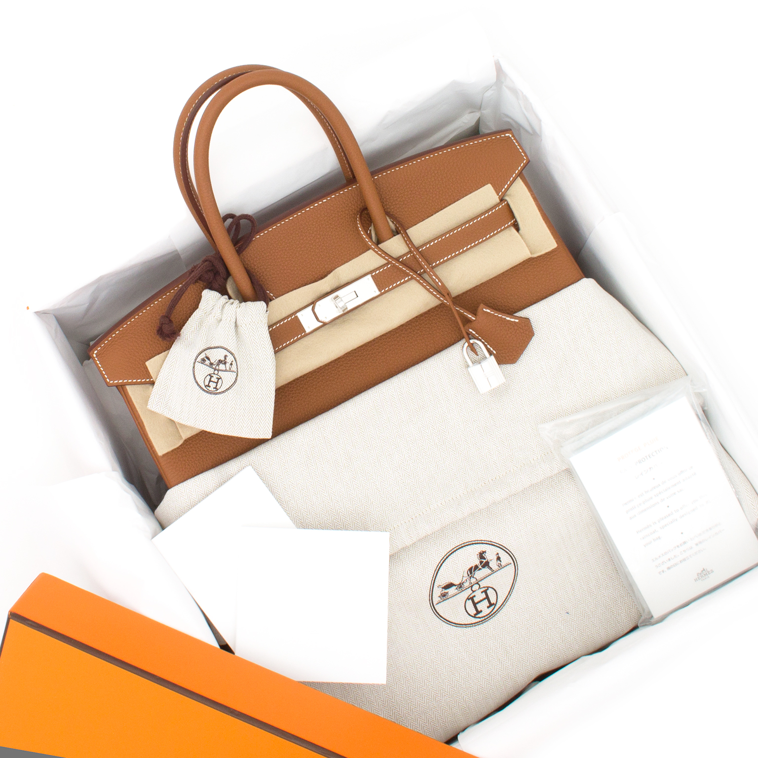 BRAND NEW Hermès Birkin Bag 35 PHW Togo Gold worldwide shipping , receipt and box