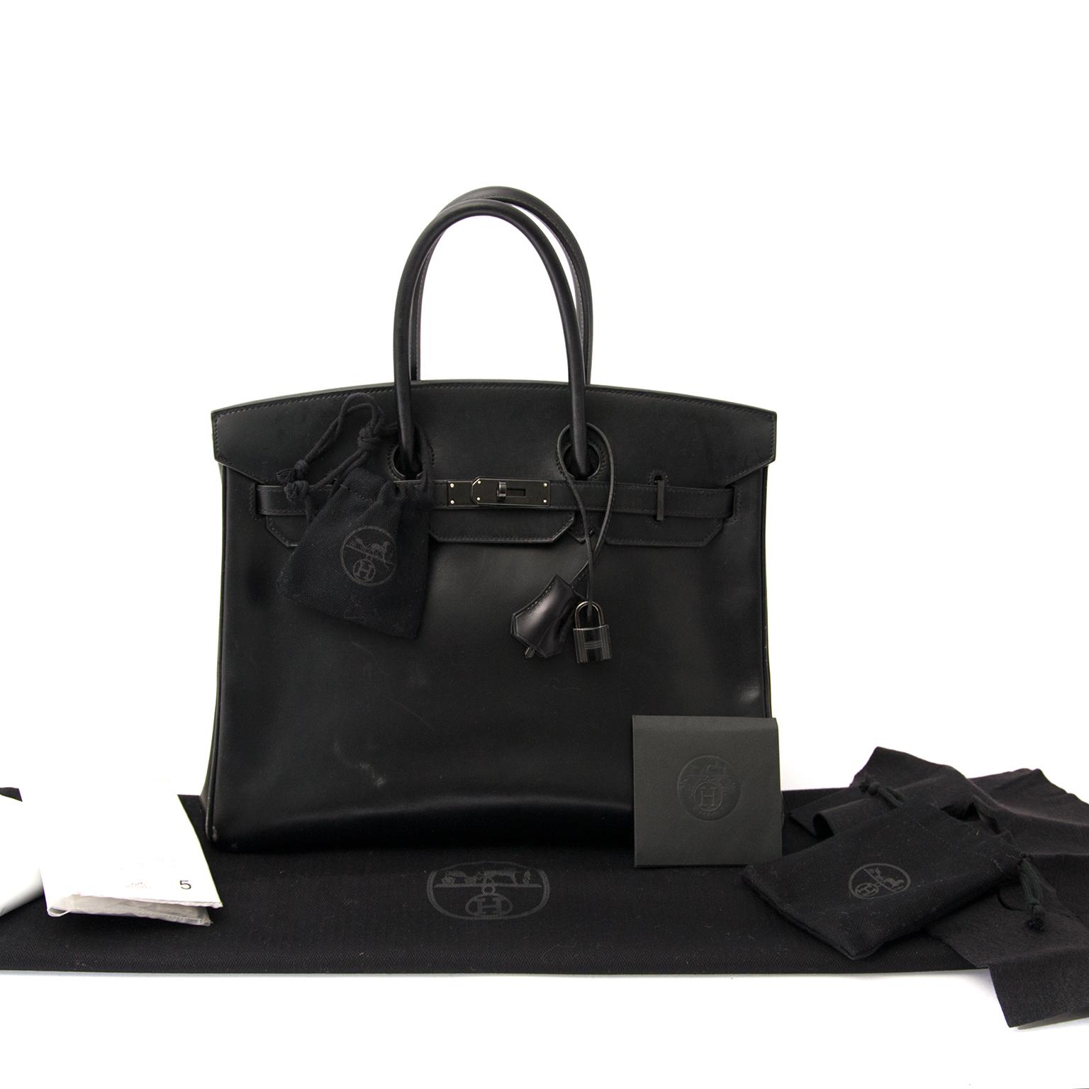 100% authentic Very Rare Limited Hermès Birkin So Black Boxcalf 35cm worldwide shipping