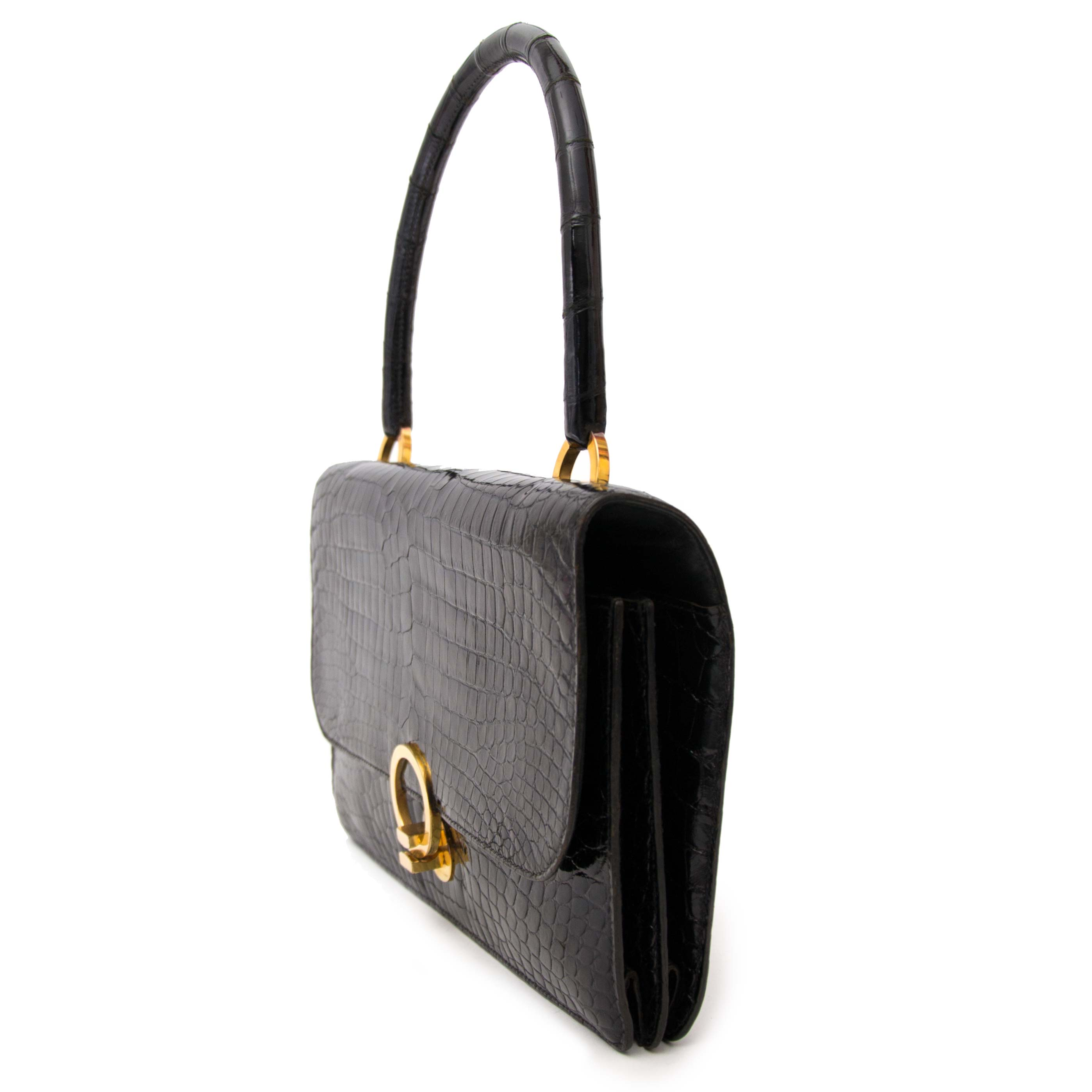 secondhand preloved luxury vintage searching for a secondhand Hermes Black Sac Ring Croco