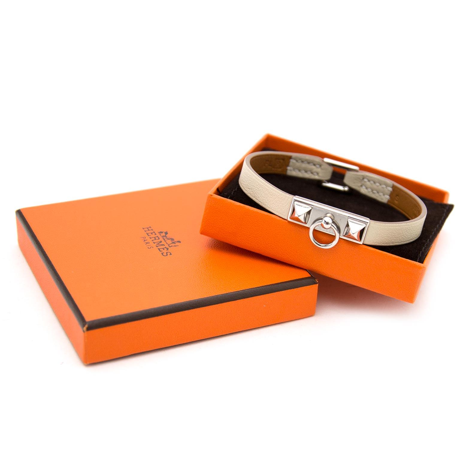 Koop en verkoop uw handtassen en accessoires op labellov.com tegen de beste prijs Hermes micro rivale bracelet
