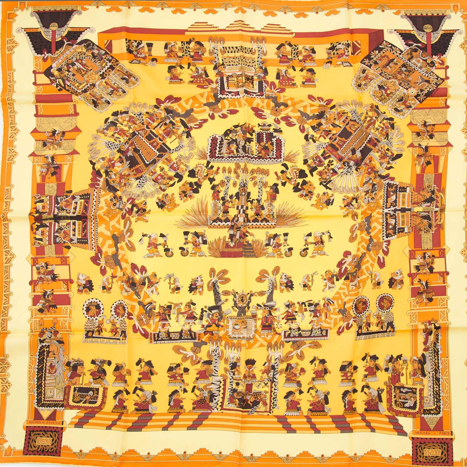 Achetez authentic Hermès foulards en ligne chez Labellov.com
