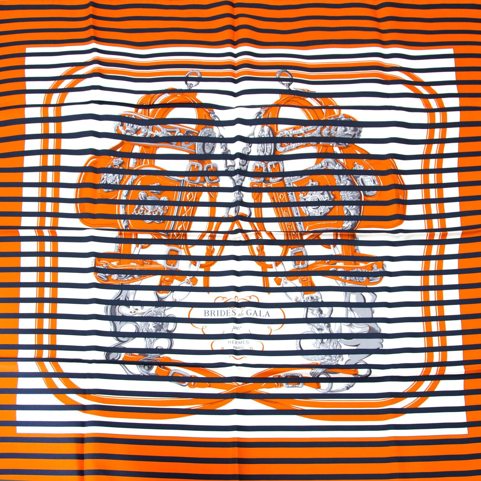 Beautifull hermes scarf with blue navy stripes