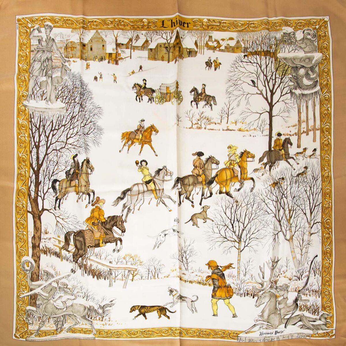 Koop authentieke tweedehands Hermes l'hiver carré aan een eerlijke prijs bij LabelLOV. Veilig online shoppen.