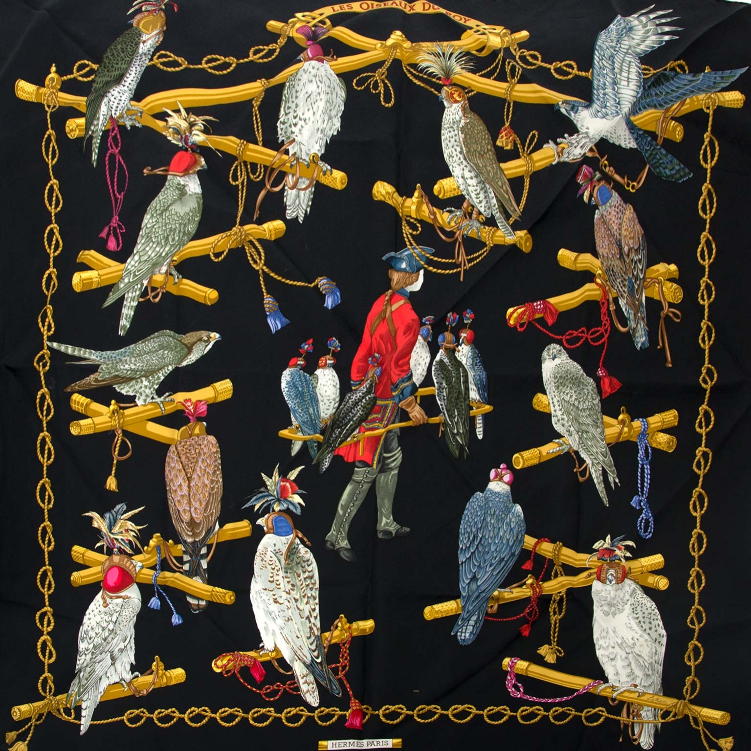 hermes carre les oiseaux du roy now for sale at labellov vintage fashion webshop belgium