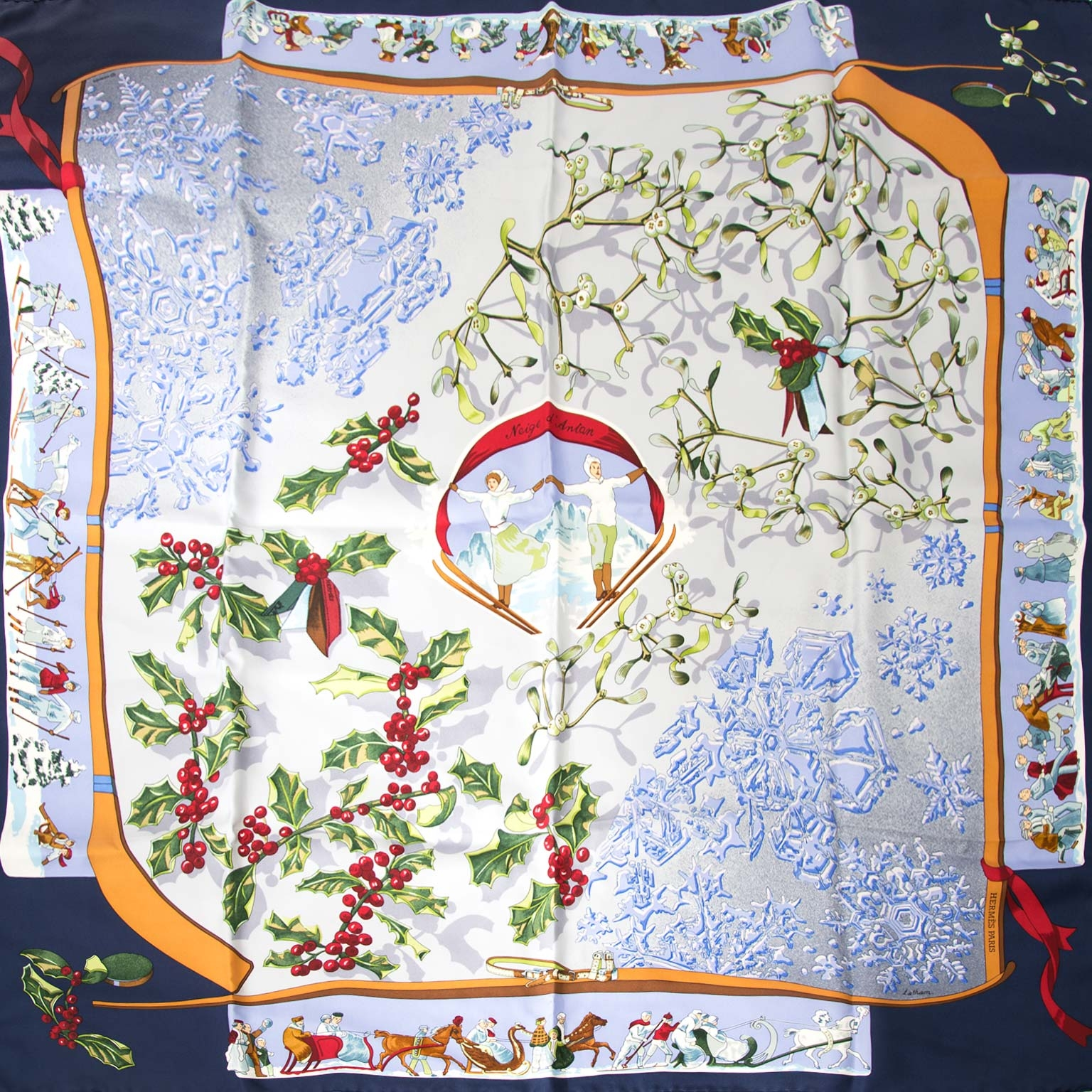 Hermès Paris Neige d'Antan Silk Carré Scarf Buy authentic designer Hermes secondhand silk scarves at Labellov at the best price. Safe and secure shopping. Koop tweedehands authentieke Hermes sjaals tassen bij designer webwinkel labellov.