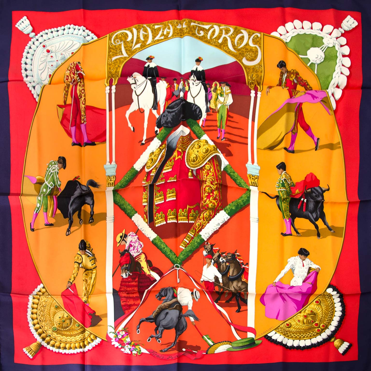 Hermes Carré Plaza de Toros Scarf  online at the best price