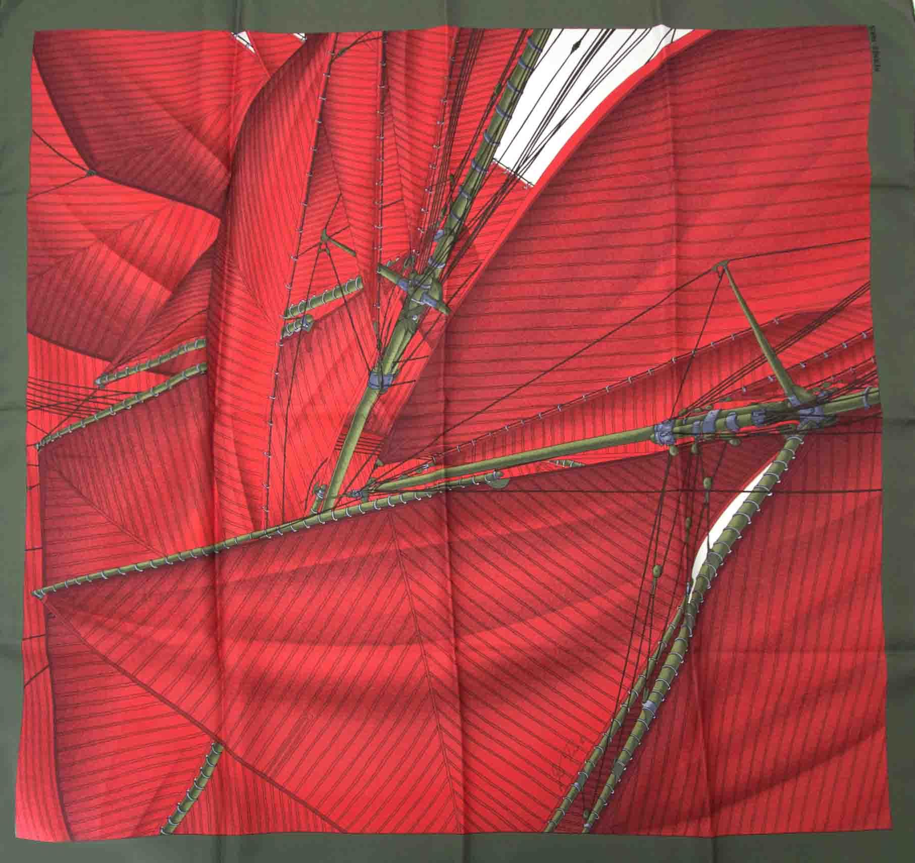 Koop een authentieke tweedehands Hermès Carré Vent Portant II scarf aan de juiste prijs