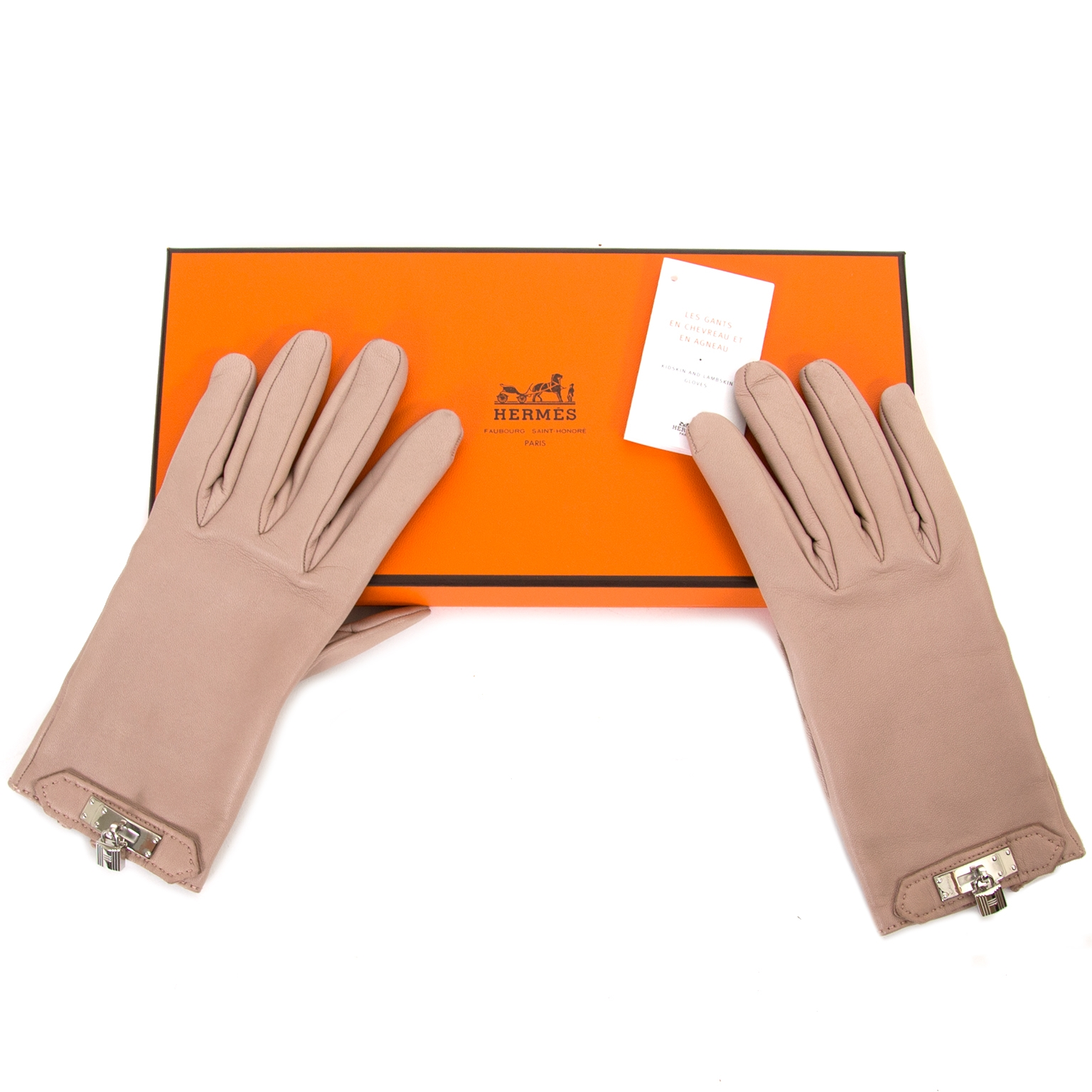 Hermès Rose Soya Gloves te koop
