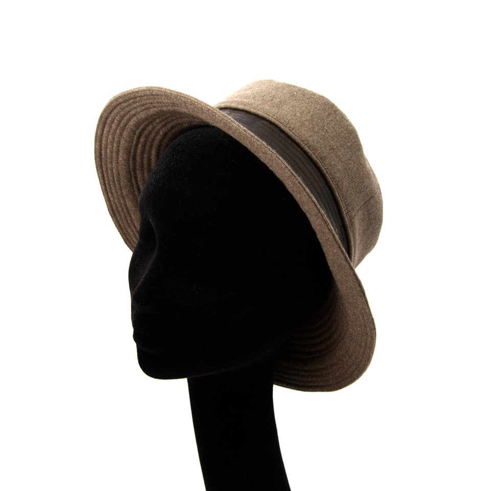 shop safe online Hermes Taupe Lambswool Hat at the best price online