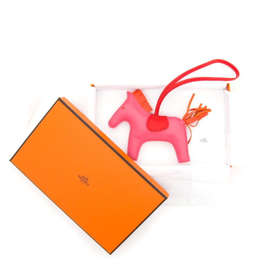 seconde main Brand New Hermes Anion Rodeo Rose Azalee and Orange