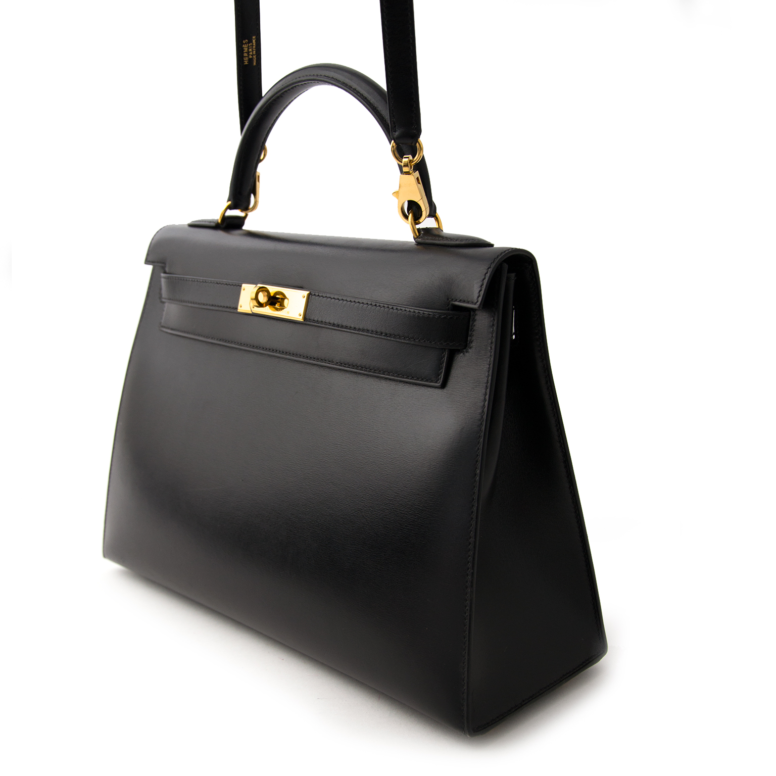 Acheter en ligne chez labellov.com pour le meilleur prix Hermes Kelly 32cm Black Box Calf
