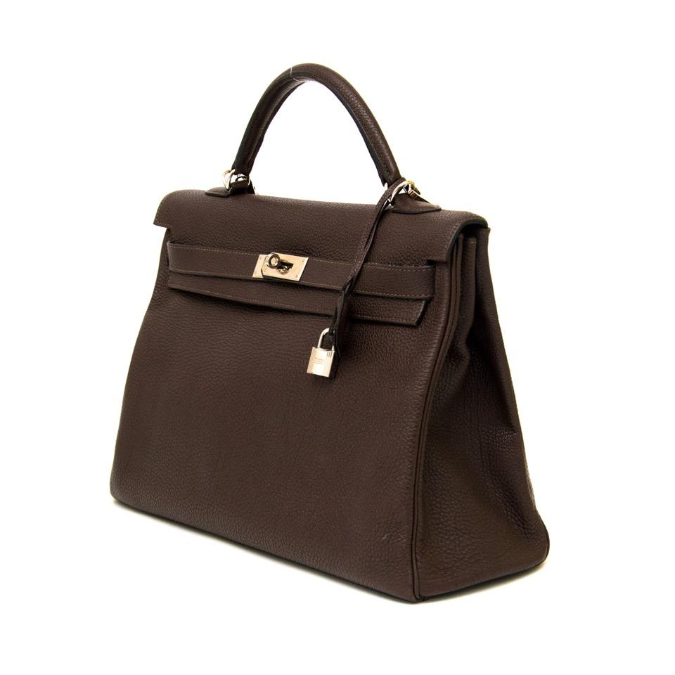 shop safe online second hand designer Hermes Kelly 40 Cafe Clemence Taurilllon PHW