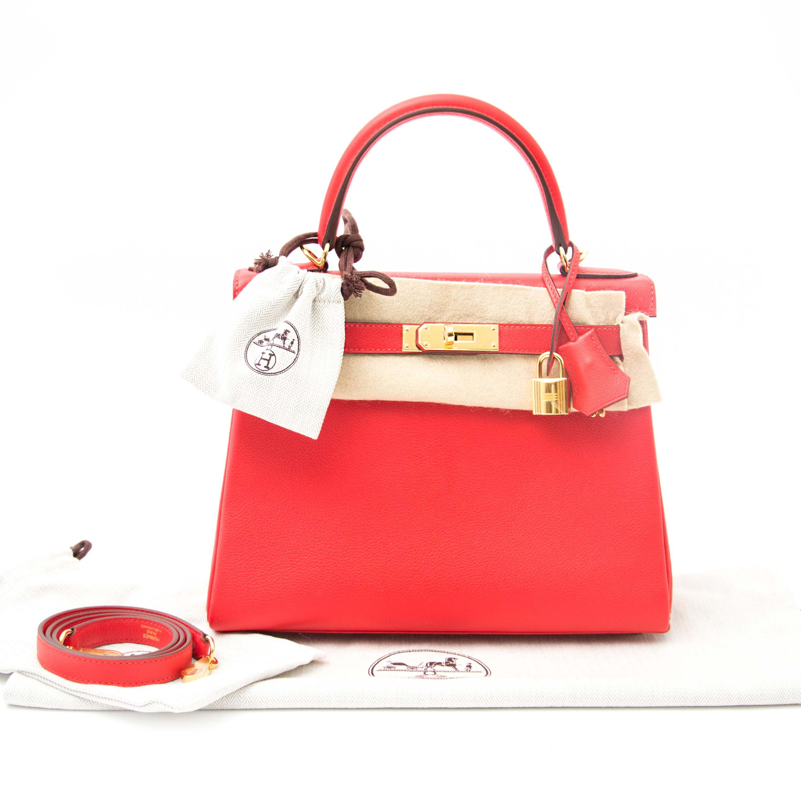 shop safe online at the best price your Hermes Kelly 28 Cappucine  Evercolor