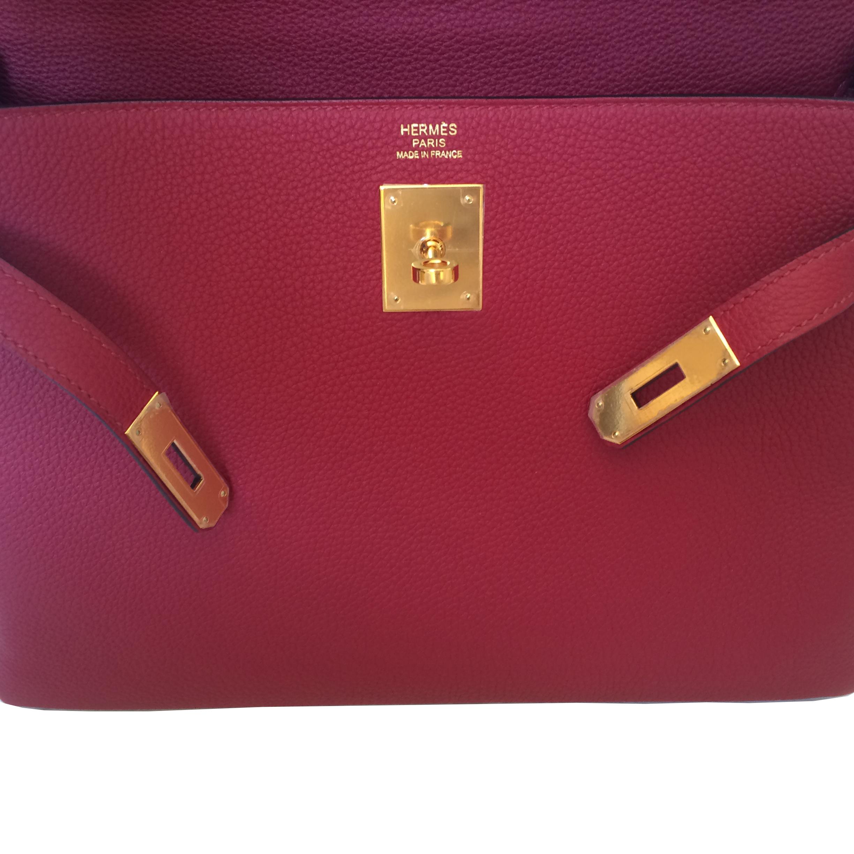 Bent u op zoek naar een authentieke Hermès Kelly 32 Rouge Grenat GHW?