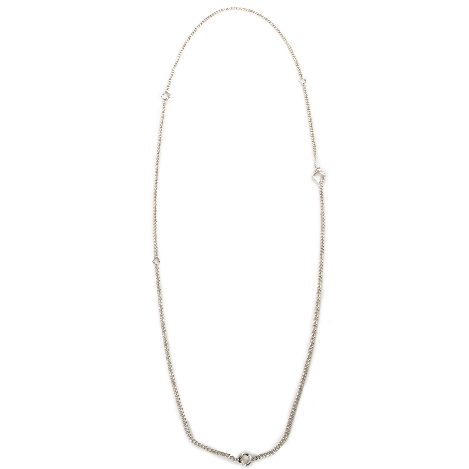Hermès Sautoir Agora PM Silver Necklace now for sale at labellov vintage fashion webshop belgium