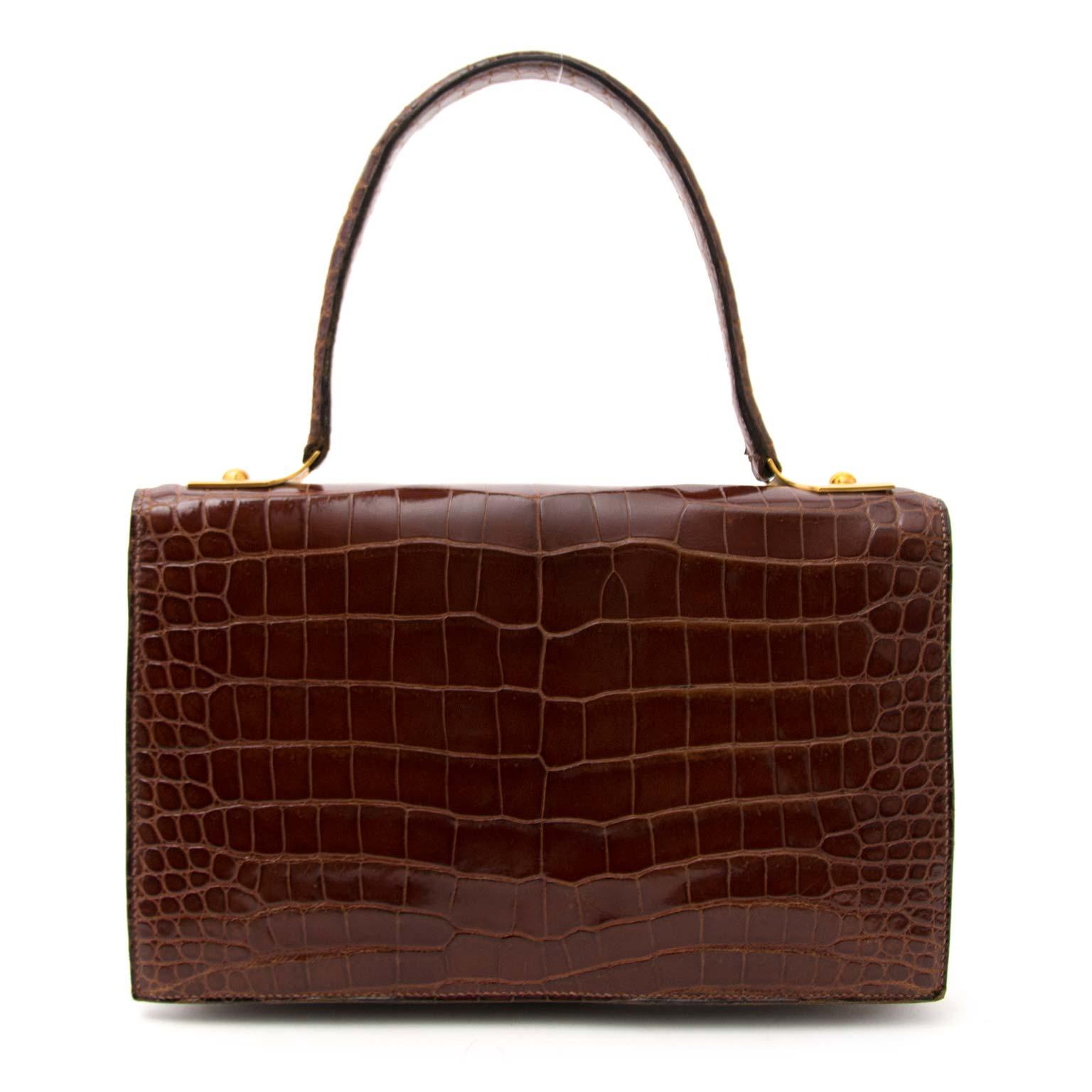 shop vintage luxury at the best price Hermes Vintage Croco Shoulder Bag  100% authentic
