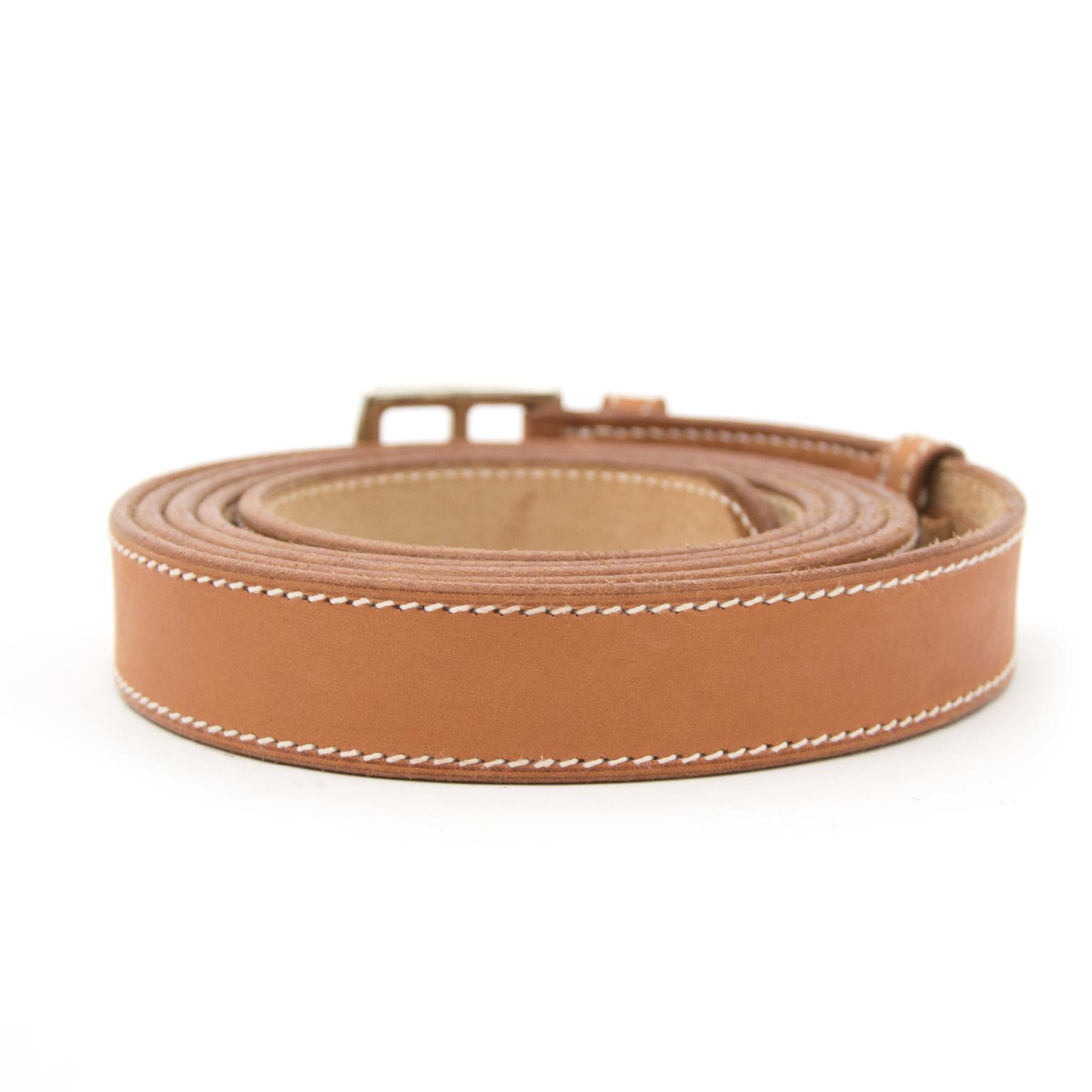 Acheter en ligne chez labellov.com pour le meilleur prix hermes natural double tour belt