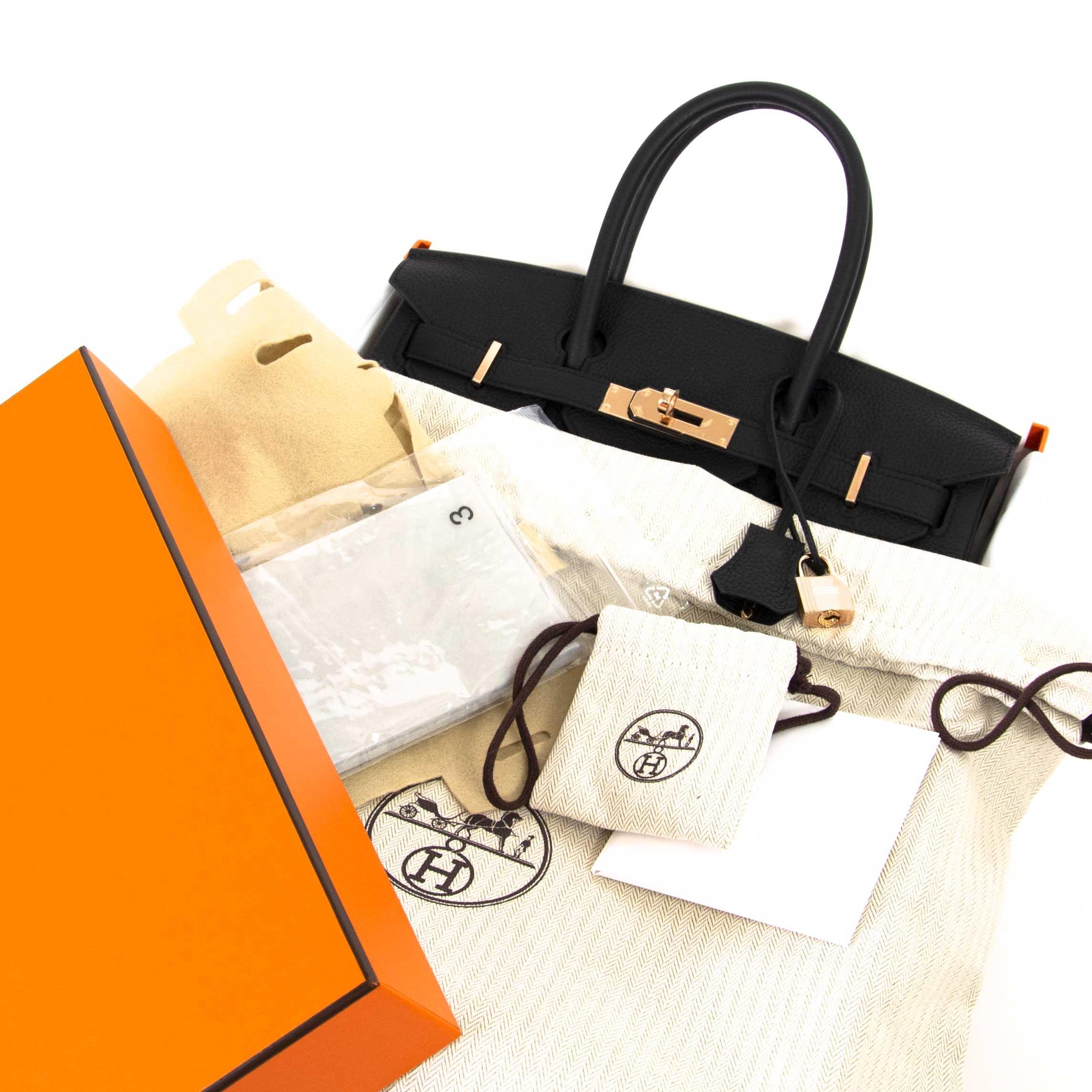 Hermès Birkin 30 Black Togo RHW te koop