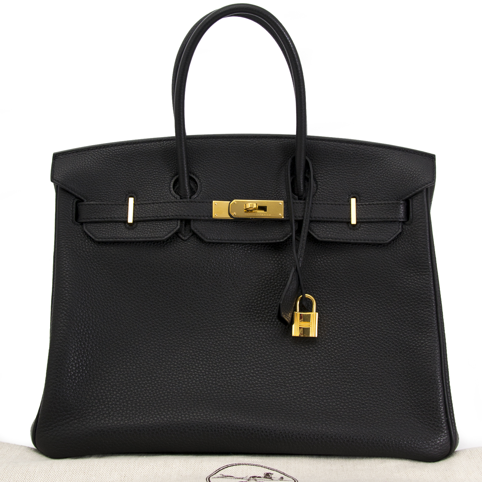 As New Hermes Birkin 35cm black togo GHW te koop bij Labellov in Antwerpen