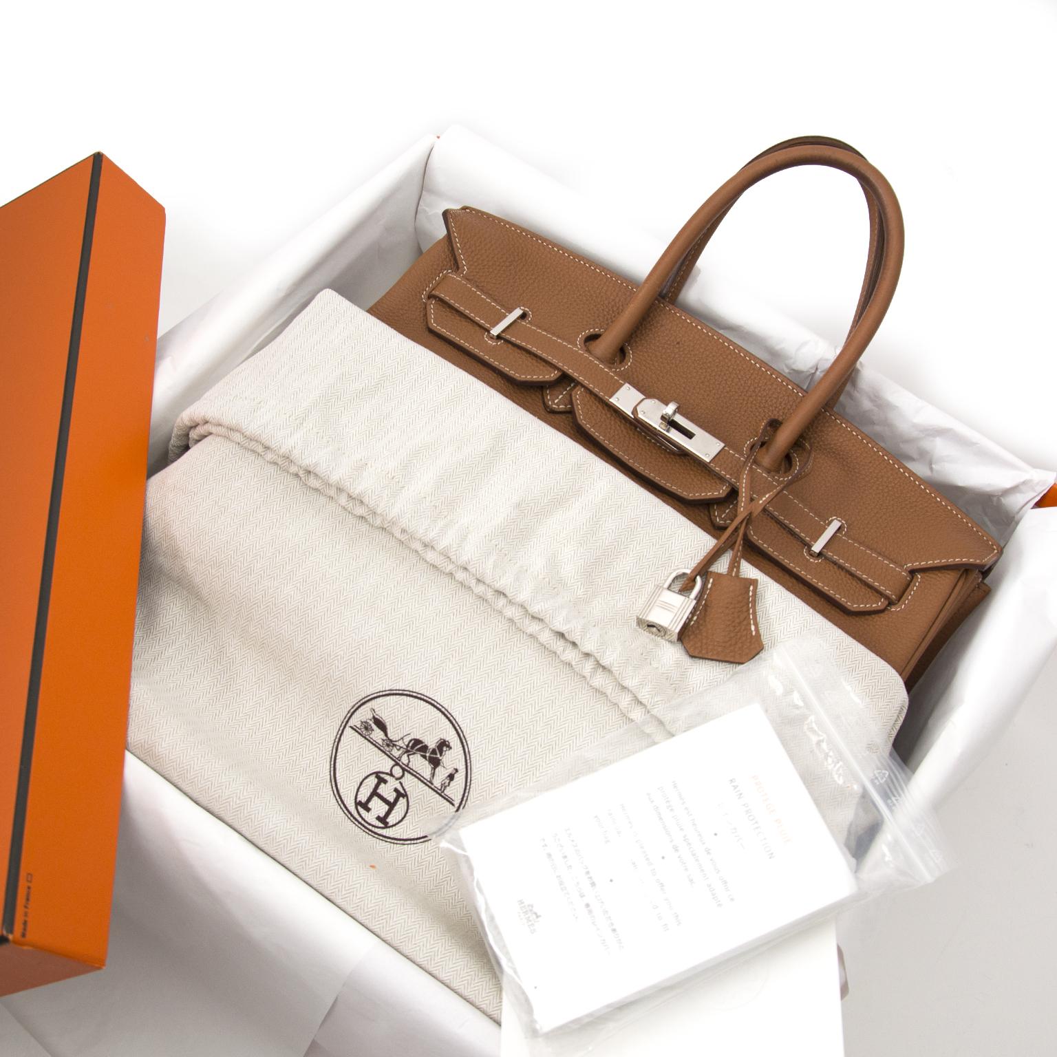 Acheter secur en ligne Hermès Birkin gold 35cm PHW pour le meilleur prix
