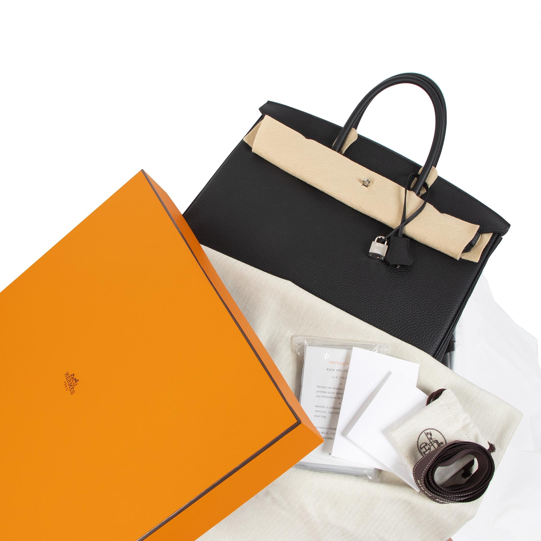 worldwide shipping brand new Never Used Hermes Black Togo Bikrin 40 PHW