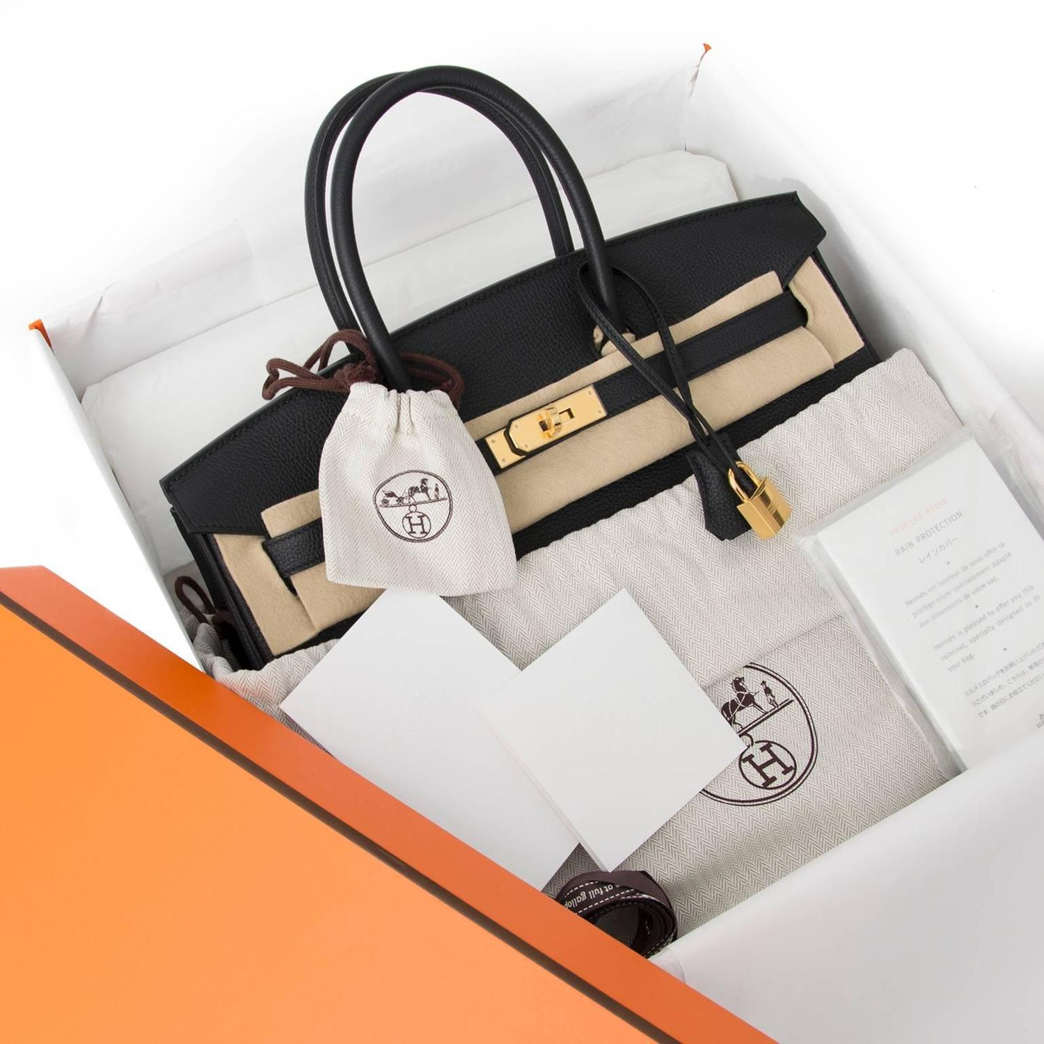 3f913b02682e ... shop safe online 100% authenitc designer Brand New Hermes Birkin Black  Togo 35 GHW