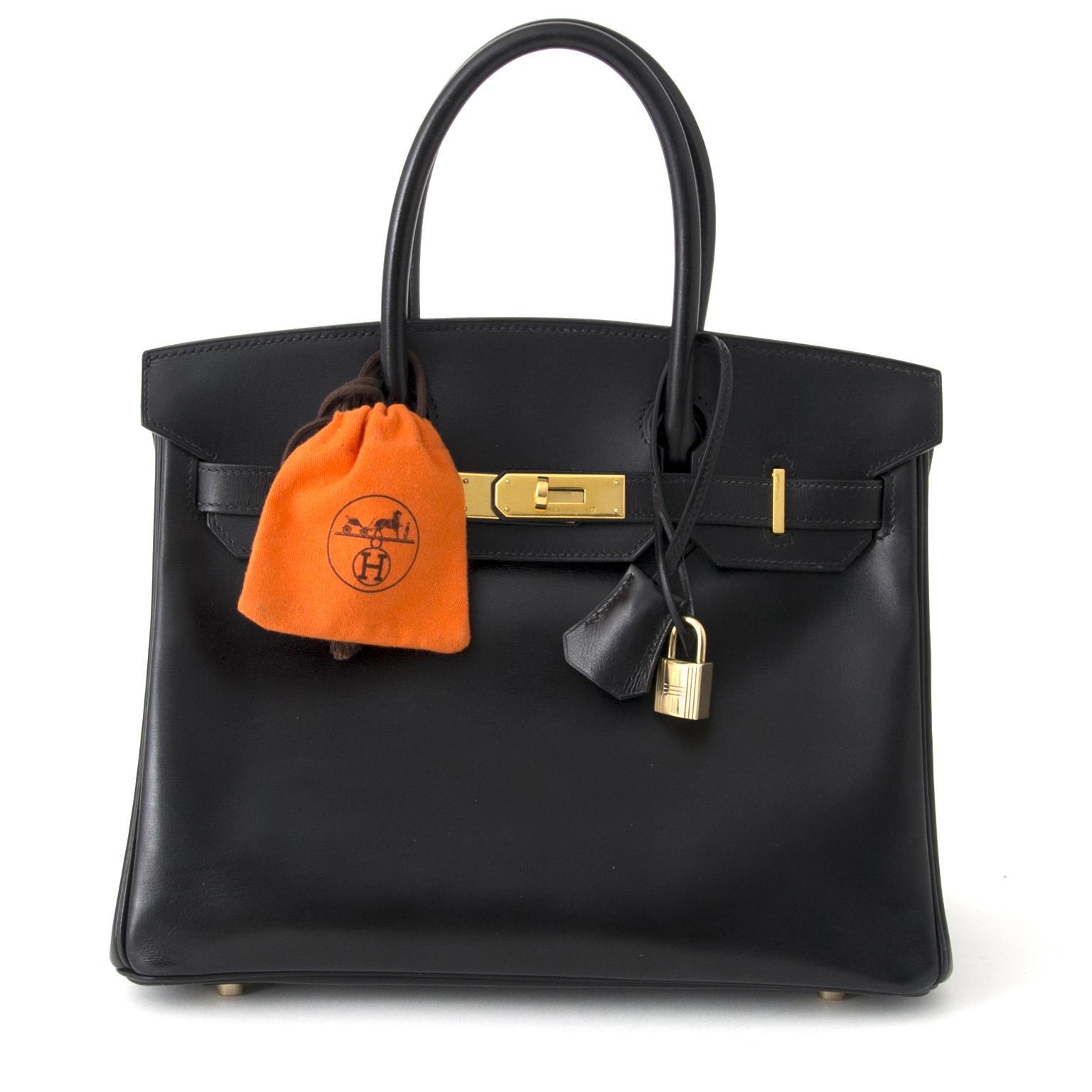 ... luxury handbag Hermes Birkin 30 Black Box Calf GHW real real worldwide  shipping  6a82579451da5
