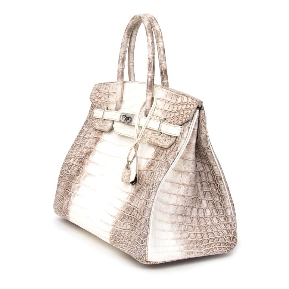 Brand New Hermès Birkin 35 cm Himalayan Niloticus Crocodile + receipt store fresh worldwide shipping