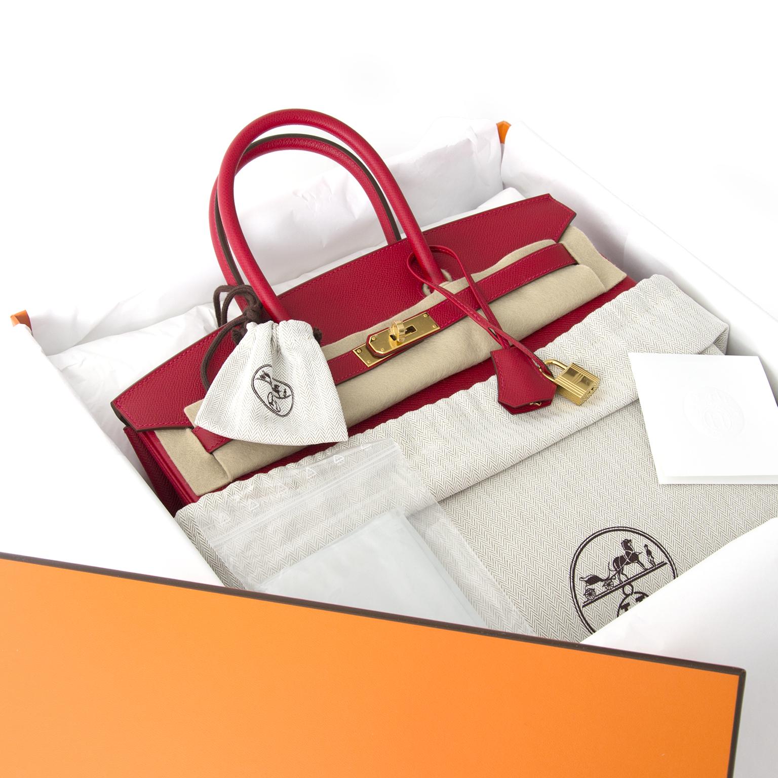 acheter en ligne pour le meilleur prix sac a main Brand New Hermès  Birkin Rouge Casaque Epsom 35 GHW NEUF 100% authentic