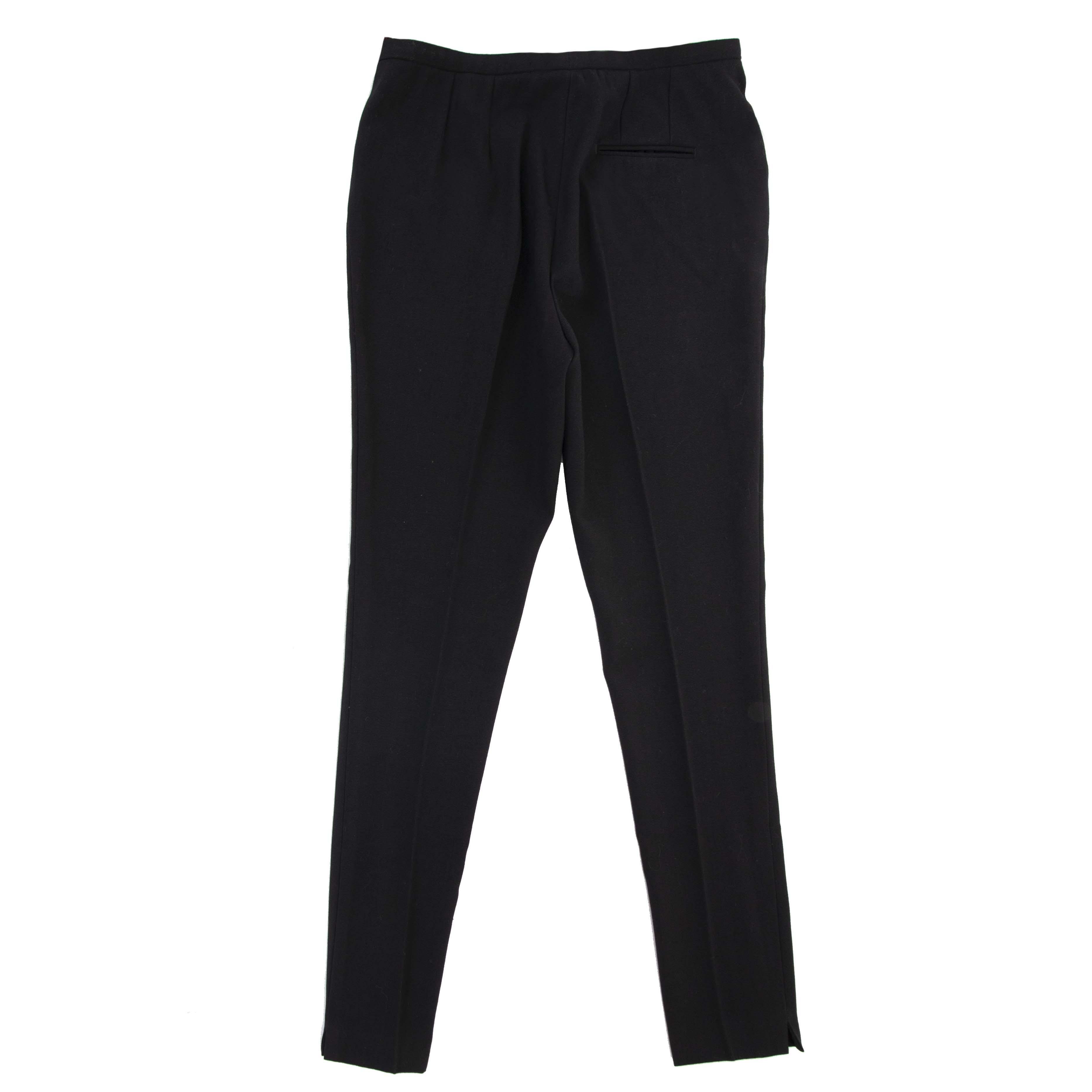 hermès noir pantalon en laine à vendre à labellov vintage webshop de mode belgique
